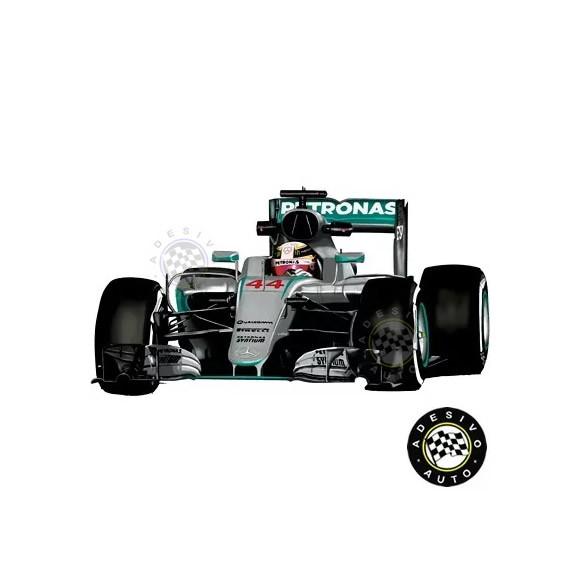 Adesivo Lewis Hamilton 44 Mercedes F1 W08 Formula 1  de5caa39f908f