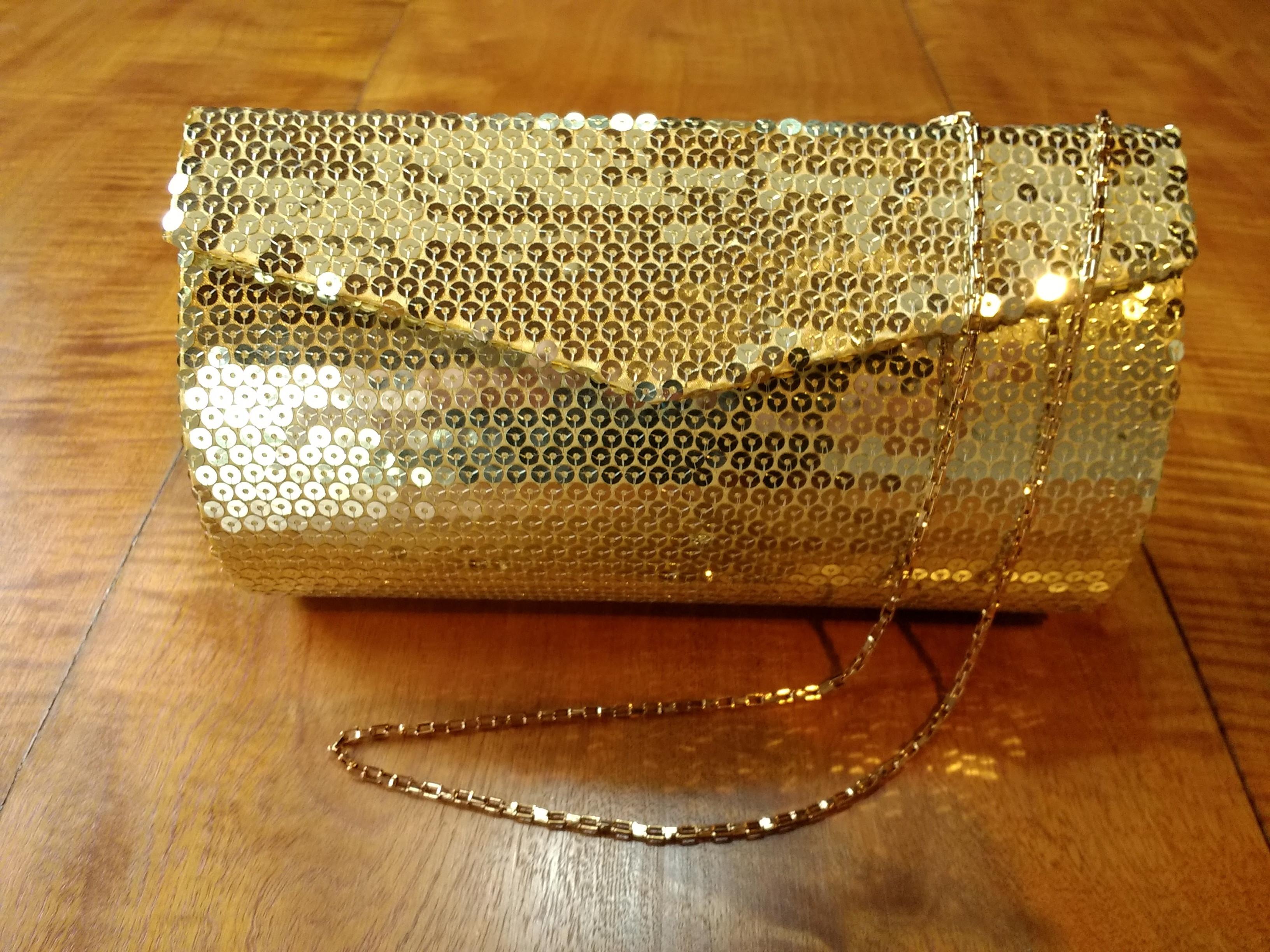 5c83a325d Bolsa de Festa Vermelho Dourado | Elo7