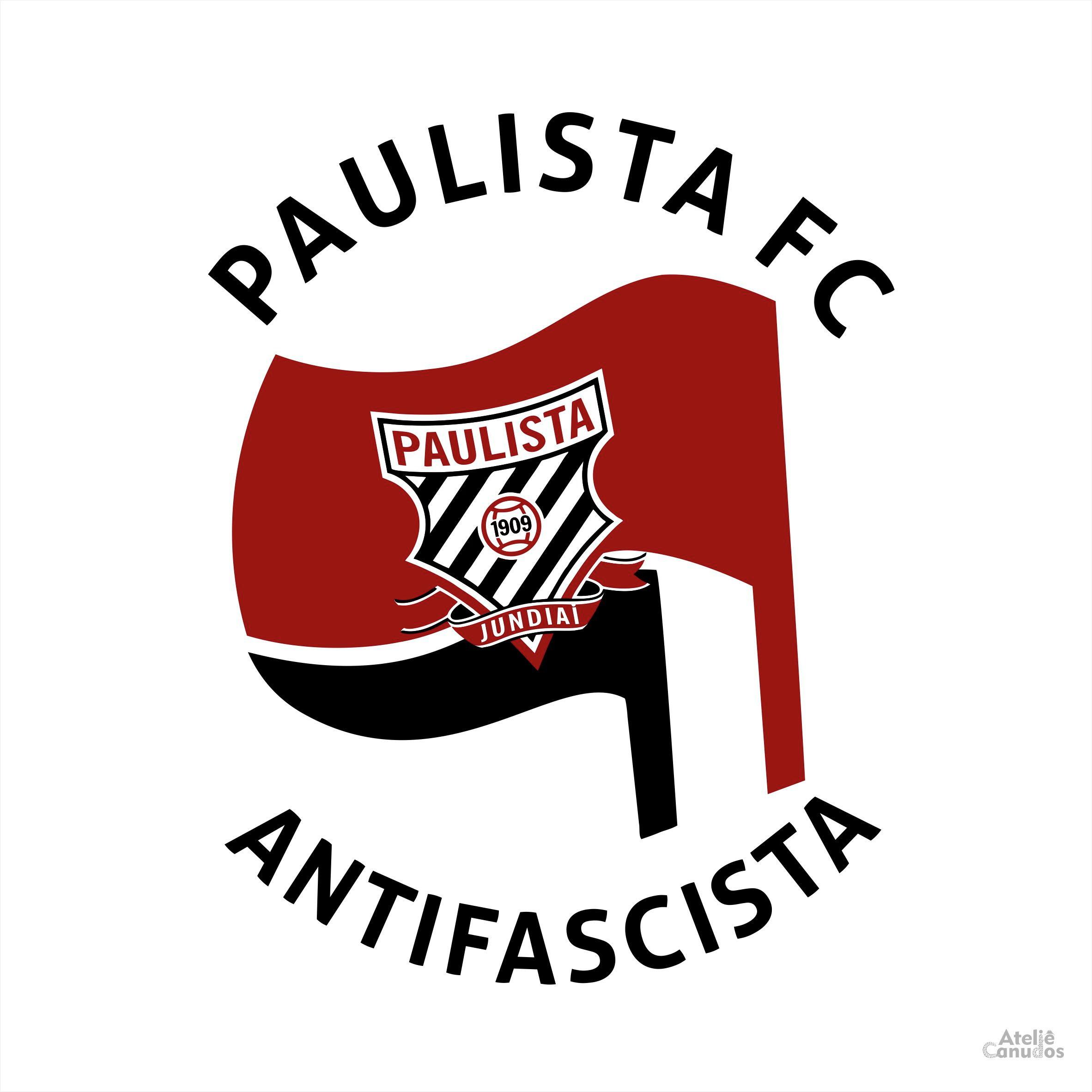 fc43b2ab28 Camisa Paulista FC Antifascista - branca no Elo7
