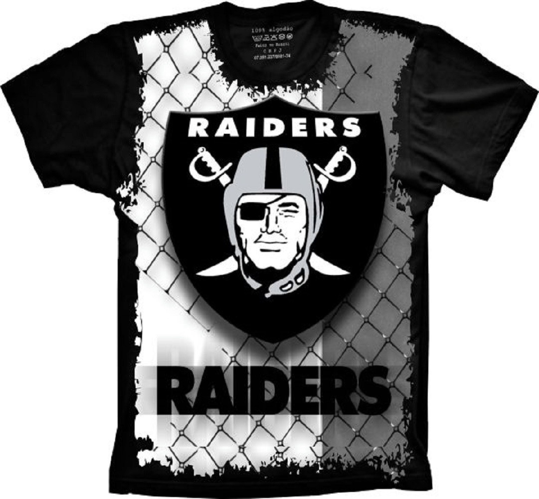 7d924c54c1 Camiseta Oakland Raiders no Elo7