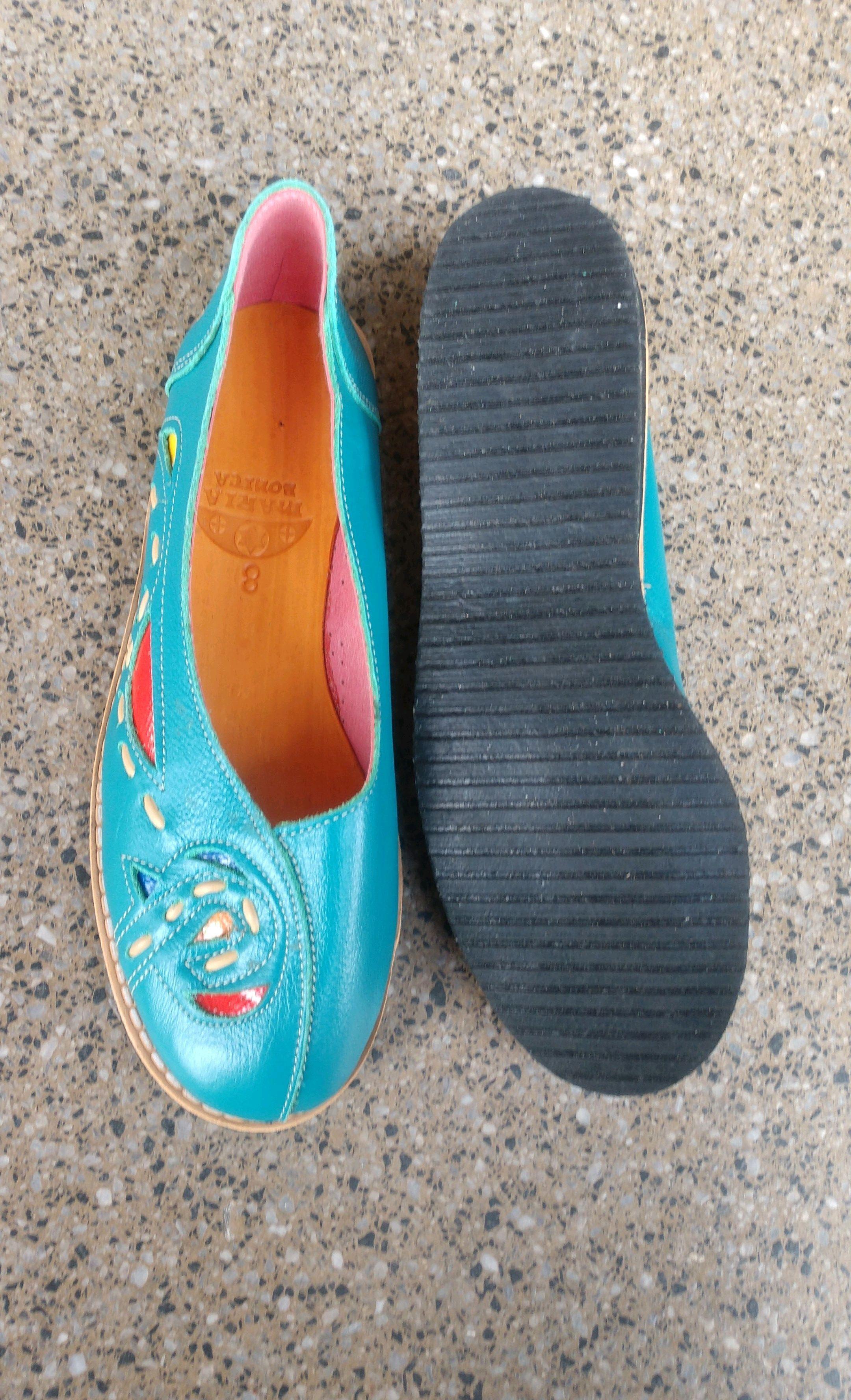 ded7b698c5 Sapato Maria Bonita azul turquesa no Elo7