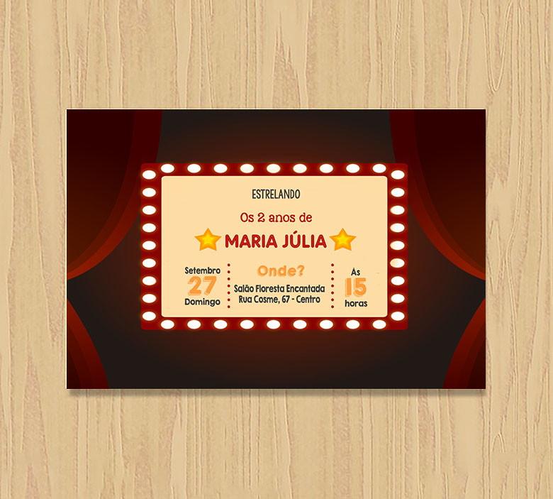 Convite Aniversário Cinema  954193009f3