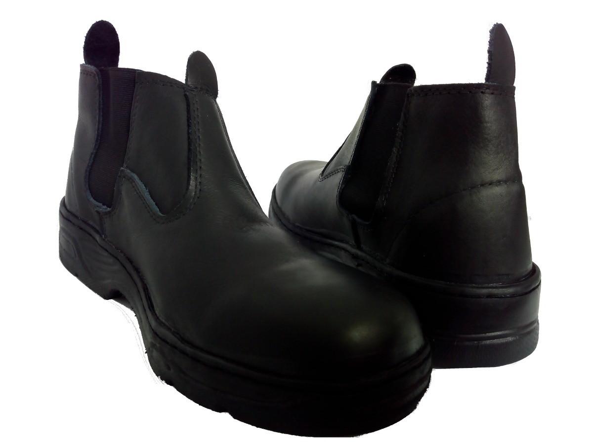 Botina Bota Segurança Trabalho Couro Latego Preto no Elo7   Calçados Correa  (DEC5BF) cdc9451d61