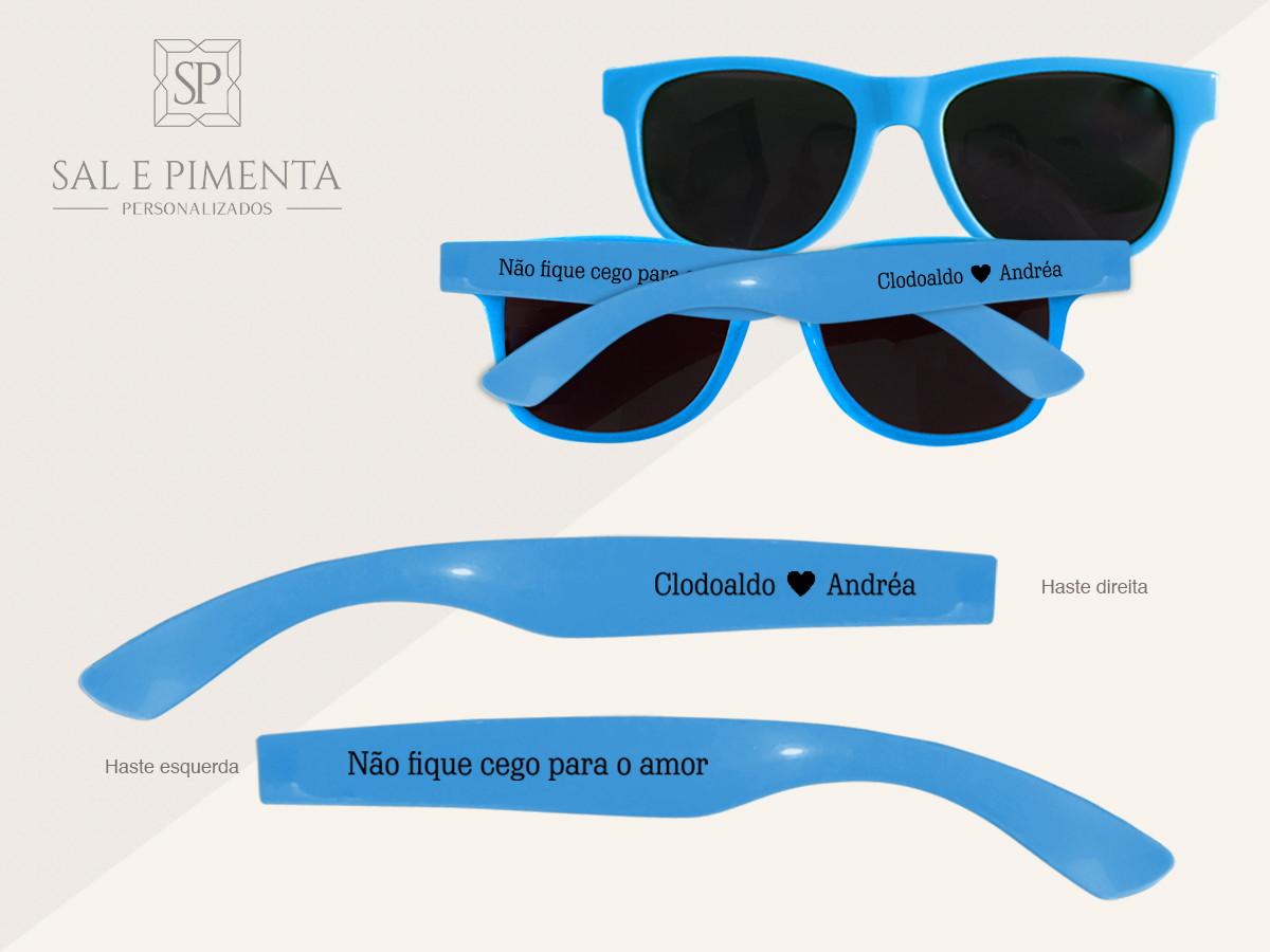 00b622266 Óculos de Sol Personalizados Monocolor Adulto no Elo7 | Sal e Pimenta  Personalizados (735F5D)