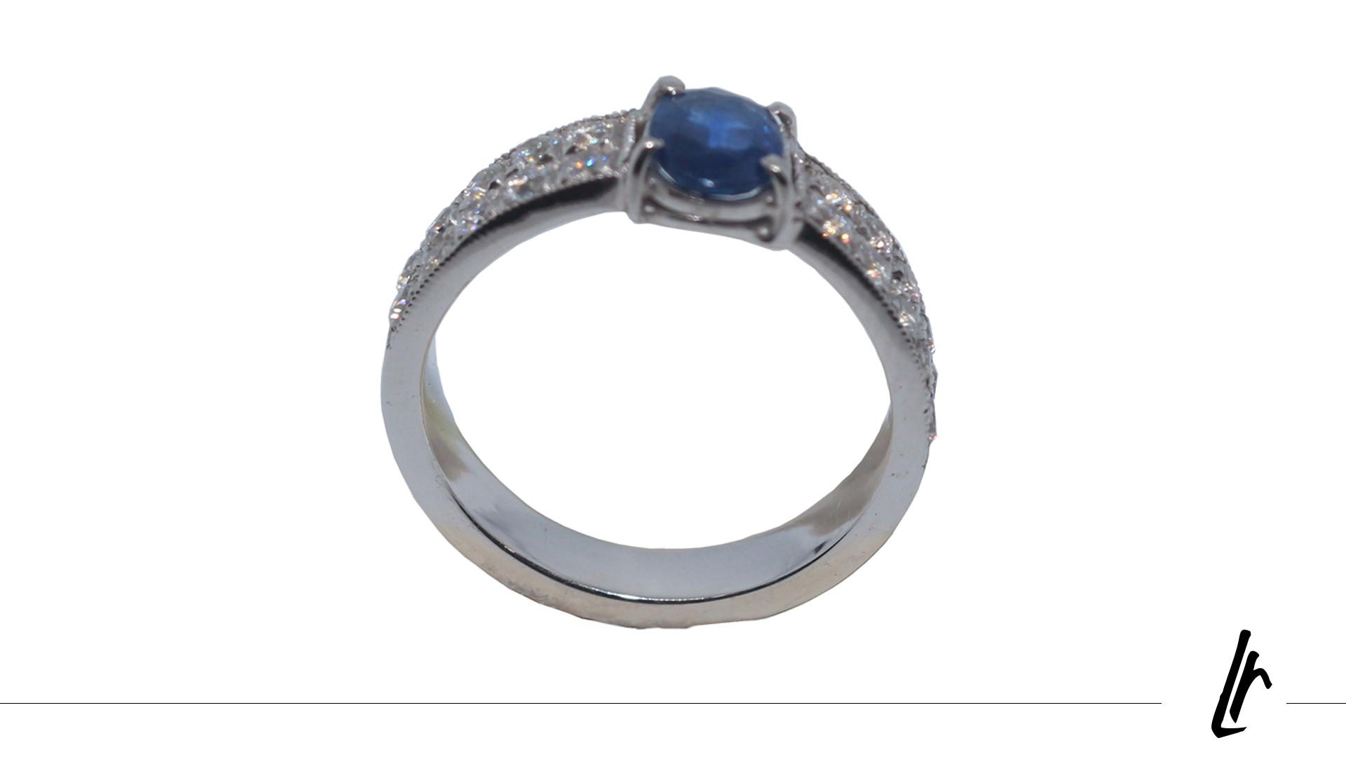 Anel de Formatura Safira Azul   Elo7 6bfe4d9d88