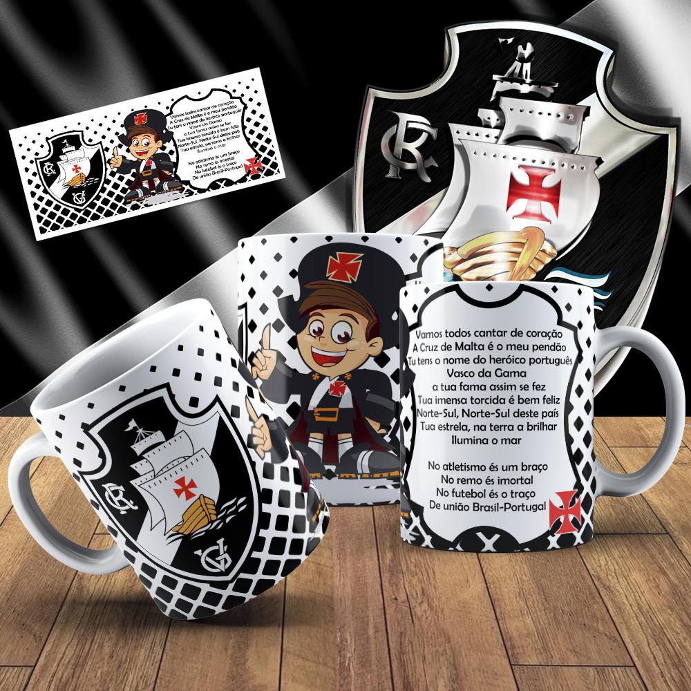 01 Caneca Ceramica Personalizada Time Vasco  02e41656b0621