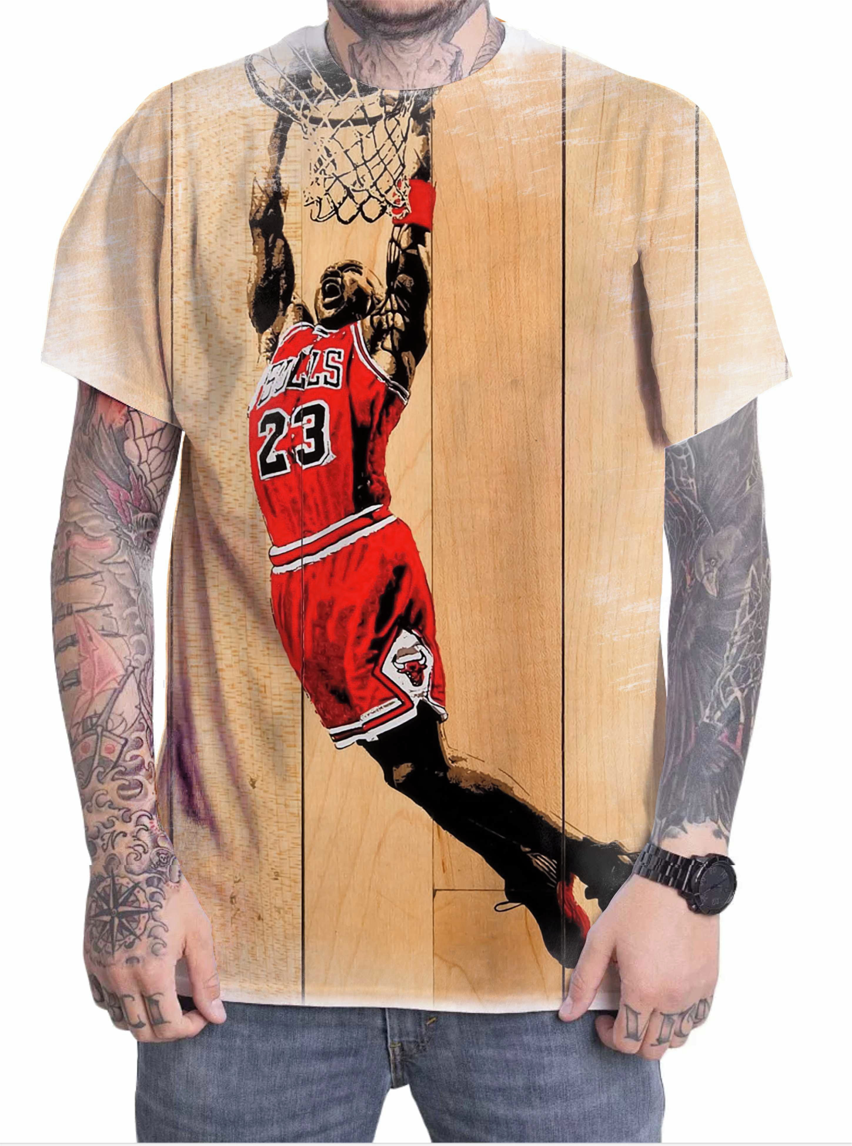 bb0c7d6c6db Camiseta Camisa Personalizada Jogador Michael Jordan 03