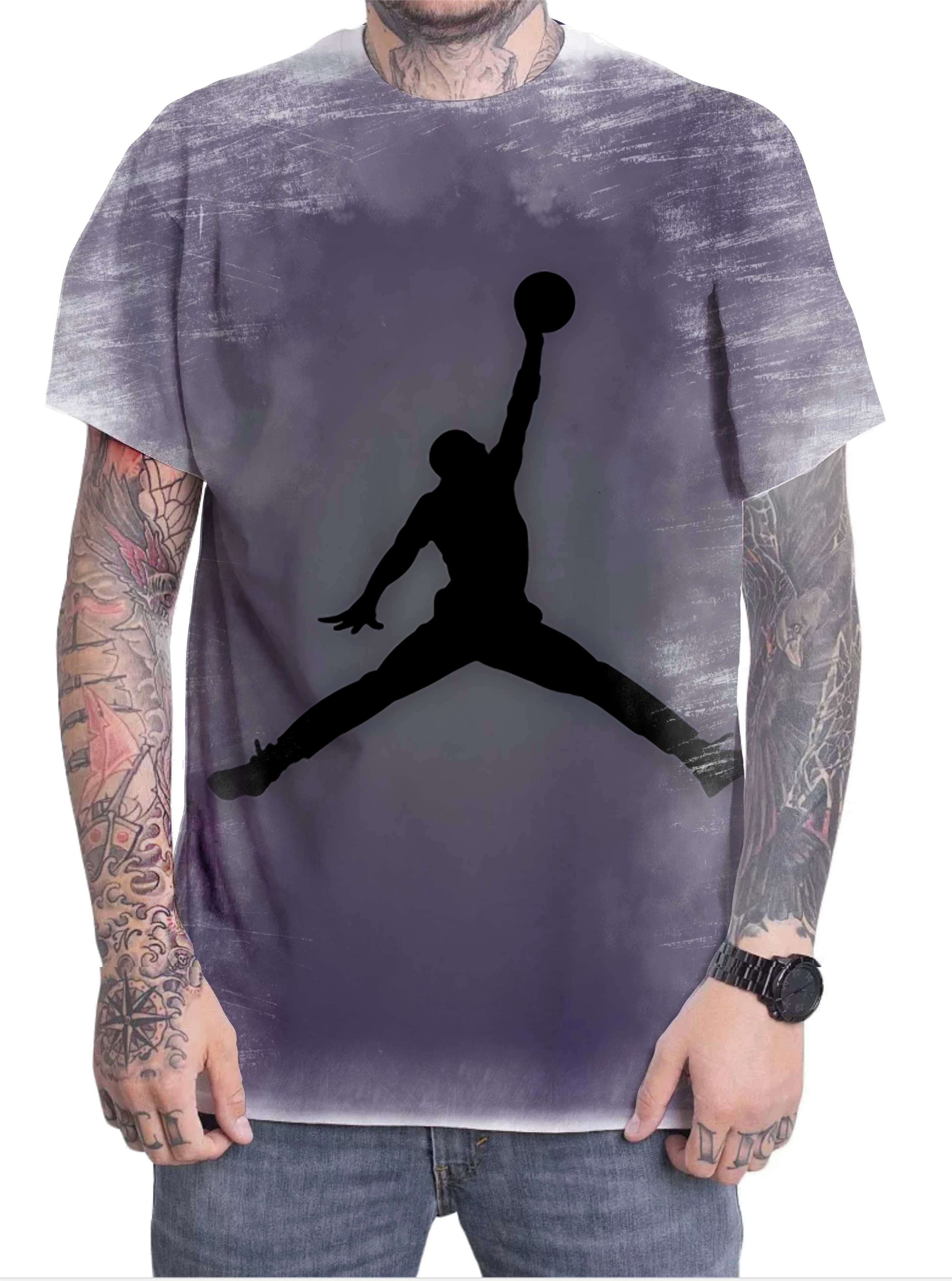 bc8dacf021e Camiseta Preta Jordan Basqueta Nba