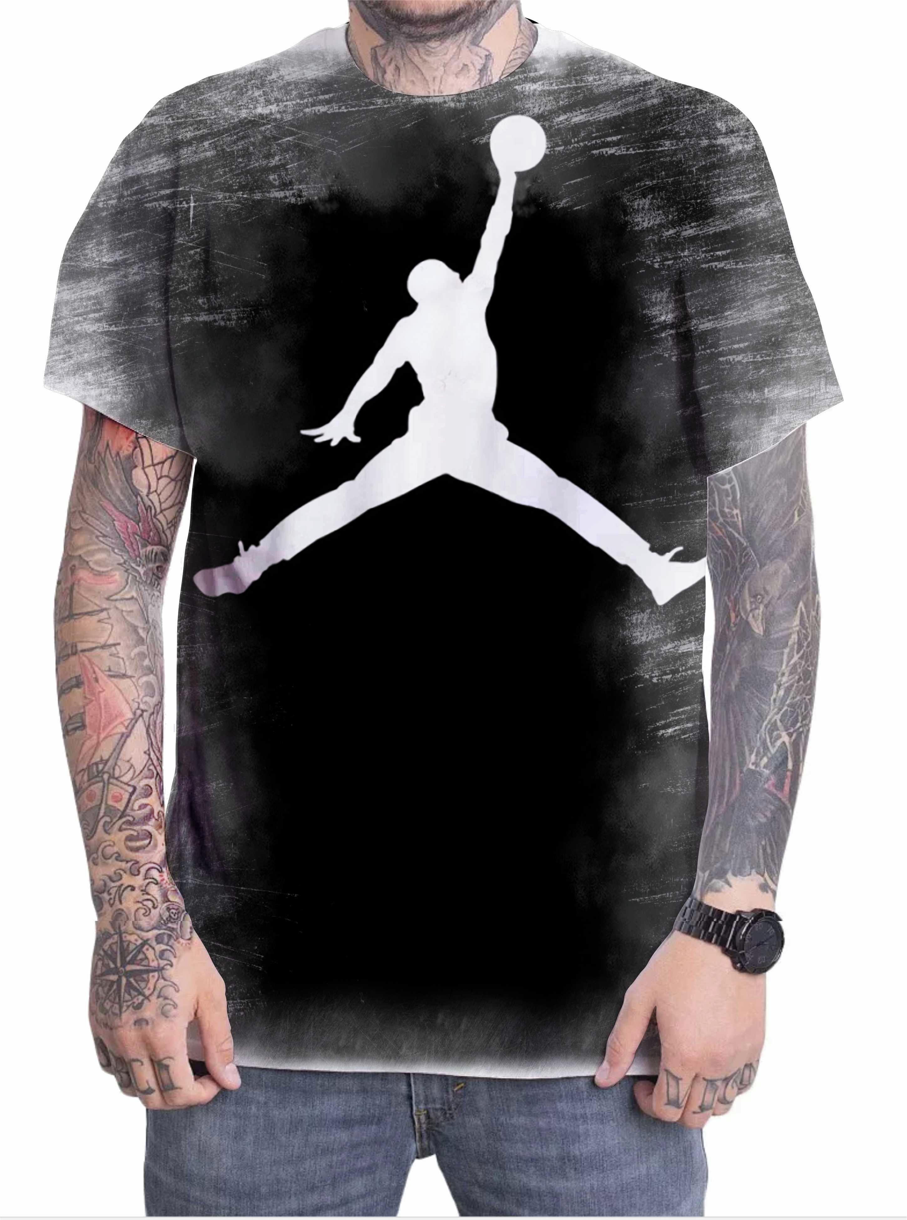 555b168161f Camiseta Camisa Personalizada Jogador Michael Jordan 15