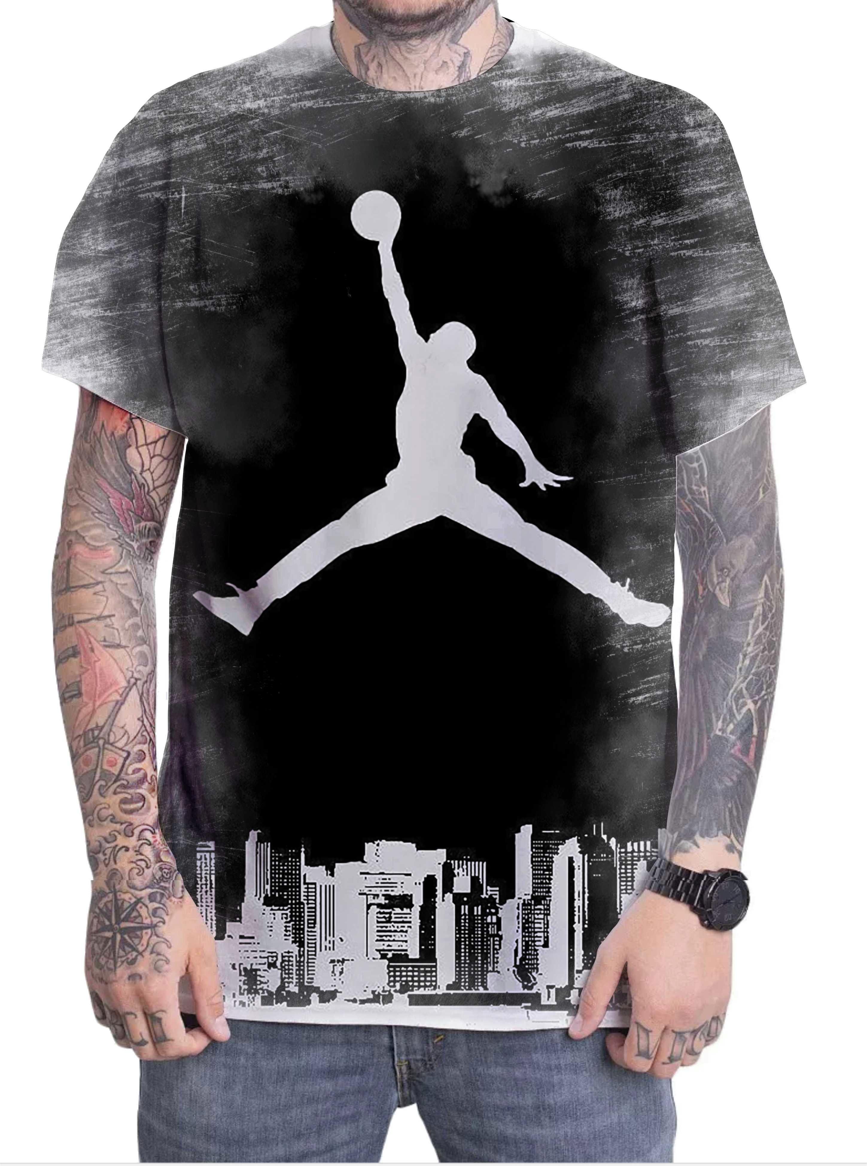 410284300a5 Camiseta Camisa Personalizada Jogador Michael Jordan 10