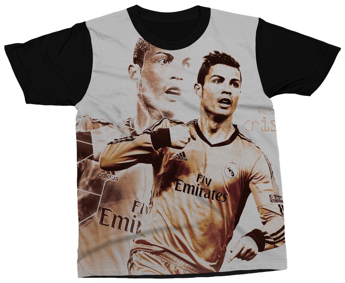 efbd484724 Camiseta Cristiano Ronaldo Jogador Futebol Blusa Camisa