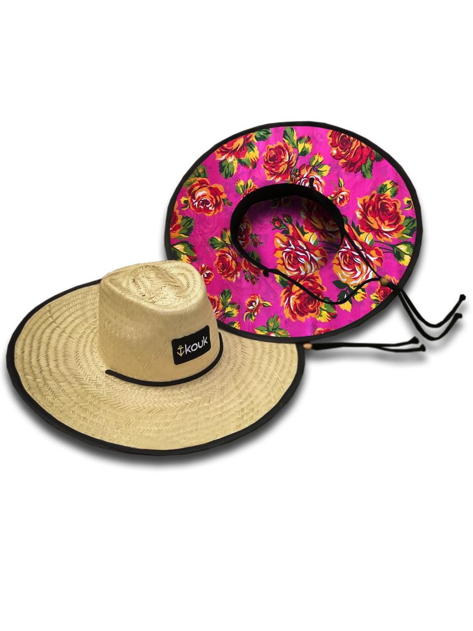 Chapéu de Palha com Fitas e Flores  7249d382ca6
