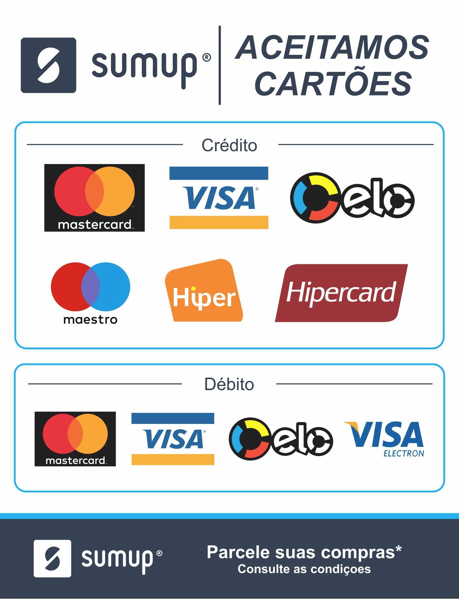 Adesivo Cartão de maquininha Sumup no Elo7 | Alan Adesivos (E03E23)
