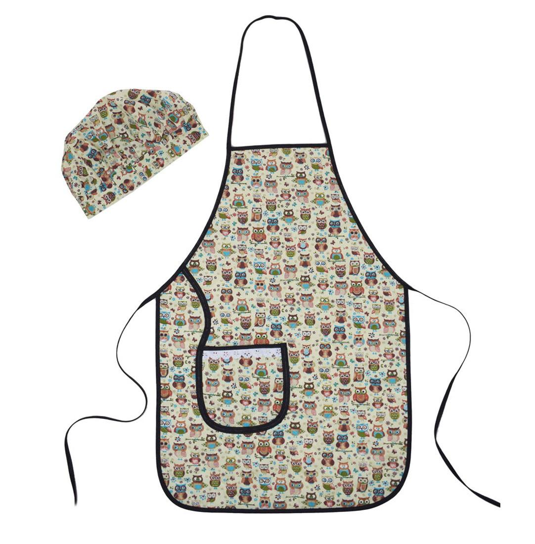 f3b72af678 Avental Plastificado com chapéu de Cozinheiro Coruja no Elo7 | A Casa da  Mãe Joana (E04502)