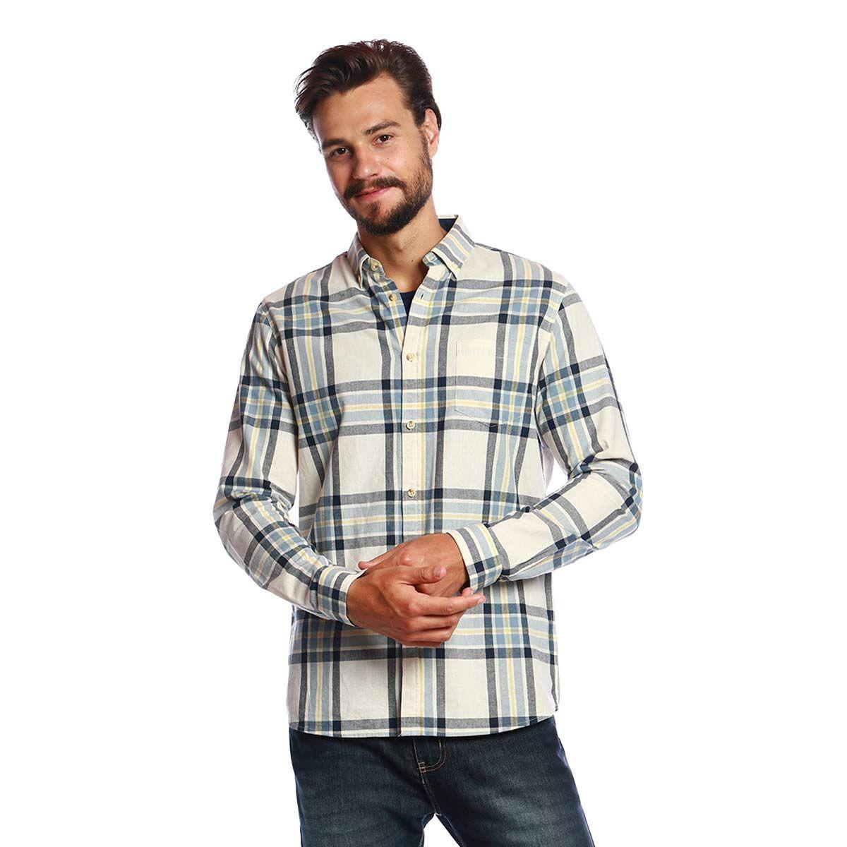Camisa Manga Longa Xadrez com Textura  849bafd94005f