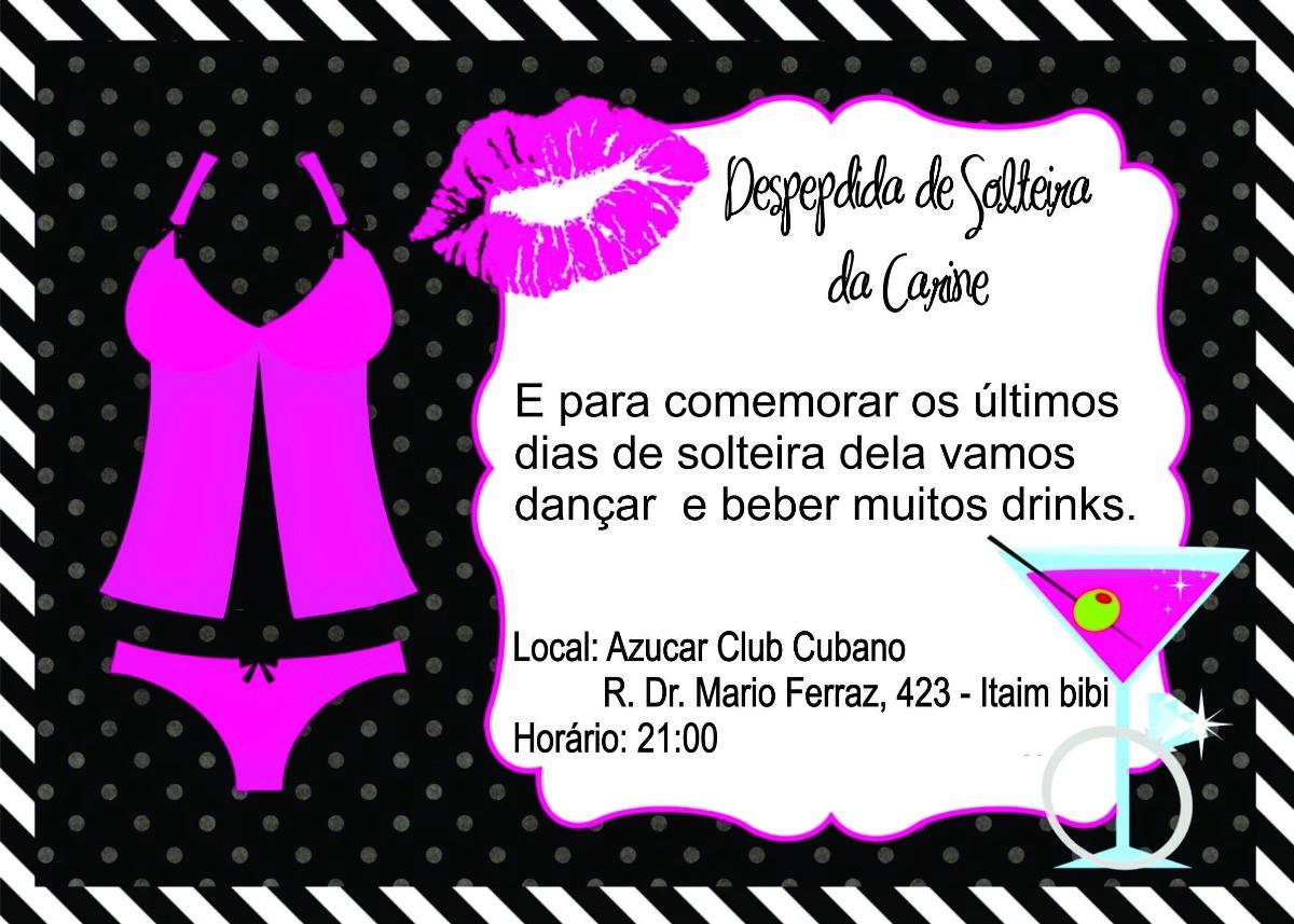 55fc3d011 Convite de Despedida de Solteira