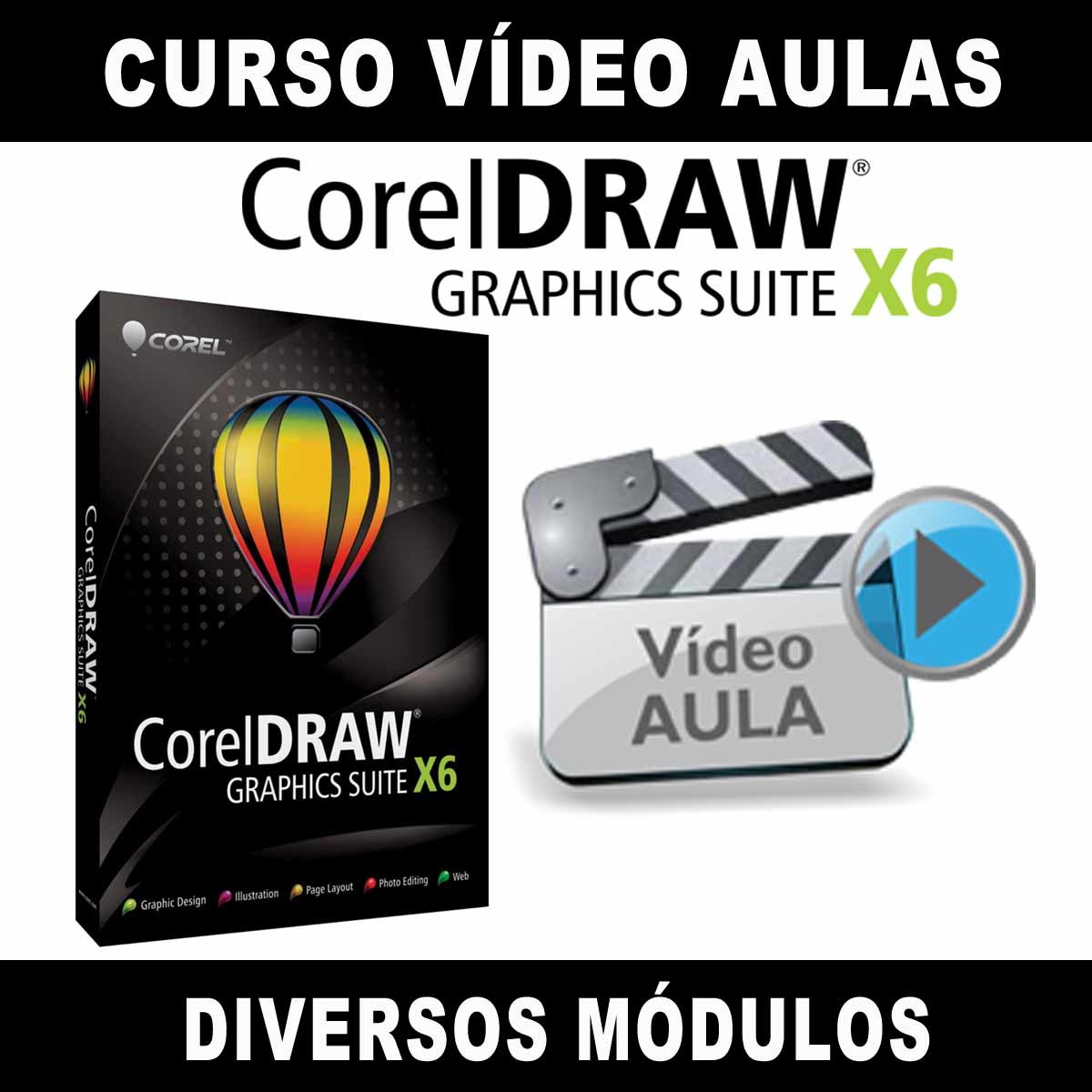 Curso Corel Draw Vídeo Aulas Tutorial Aprenda