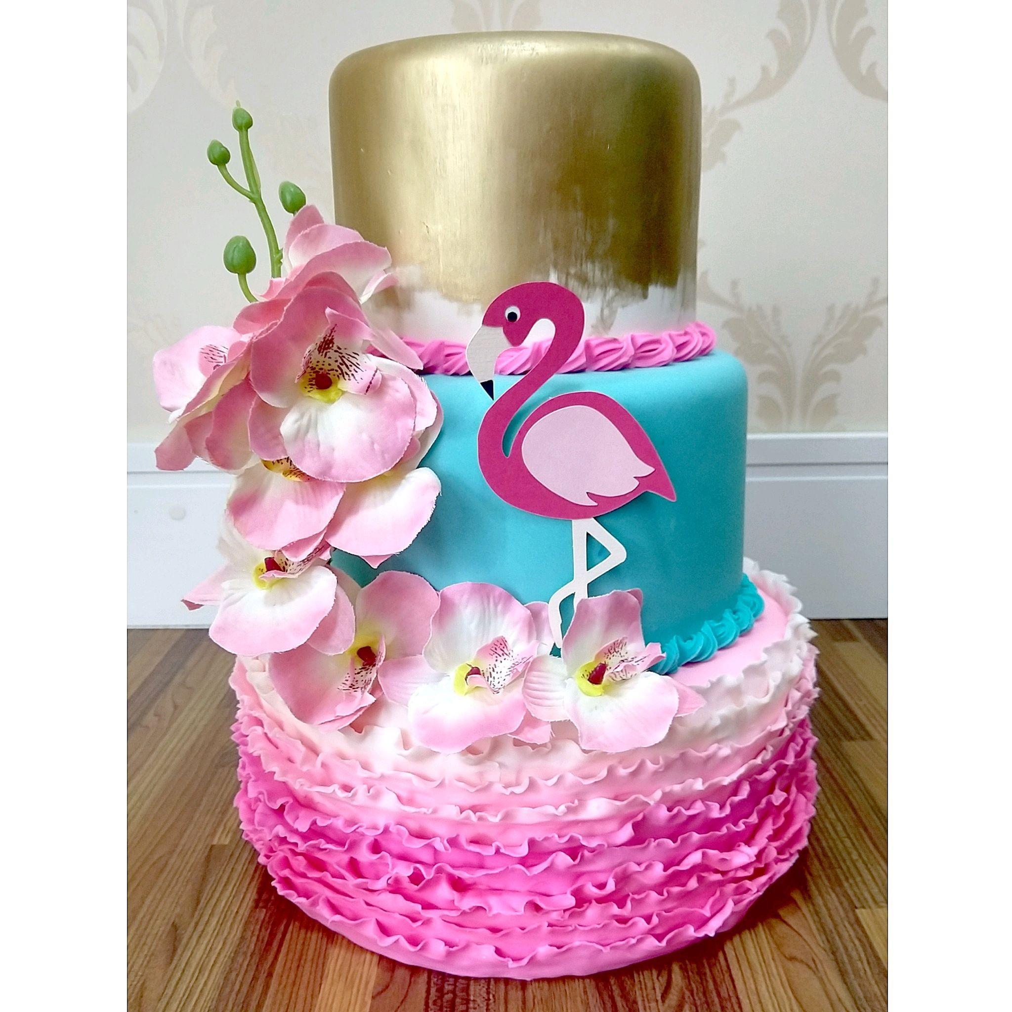 Bolo Flamingo Elo7