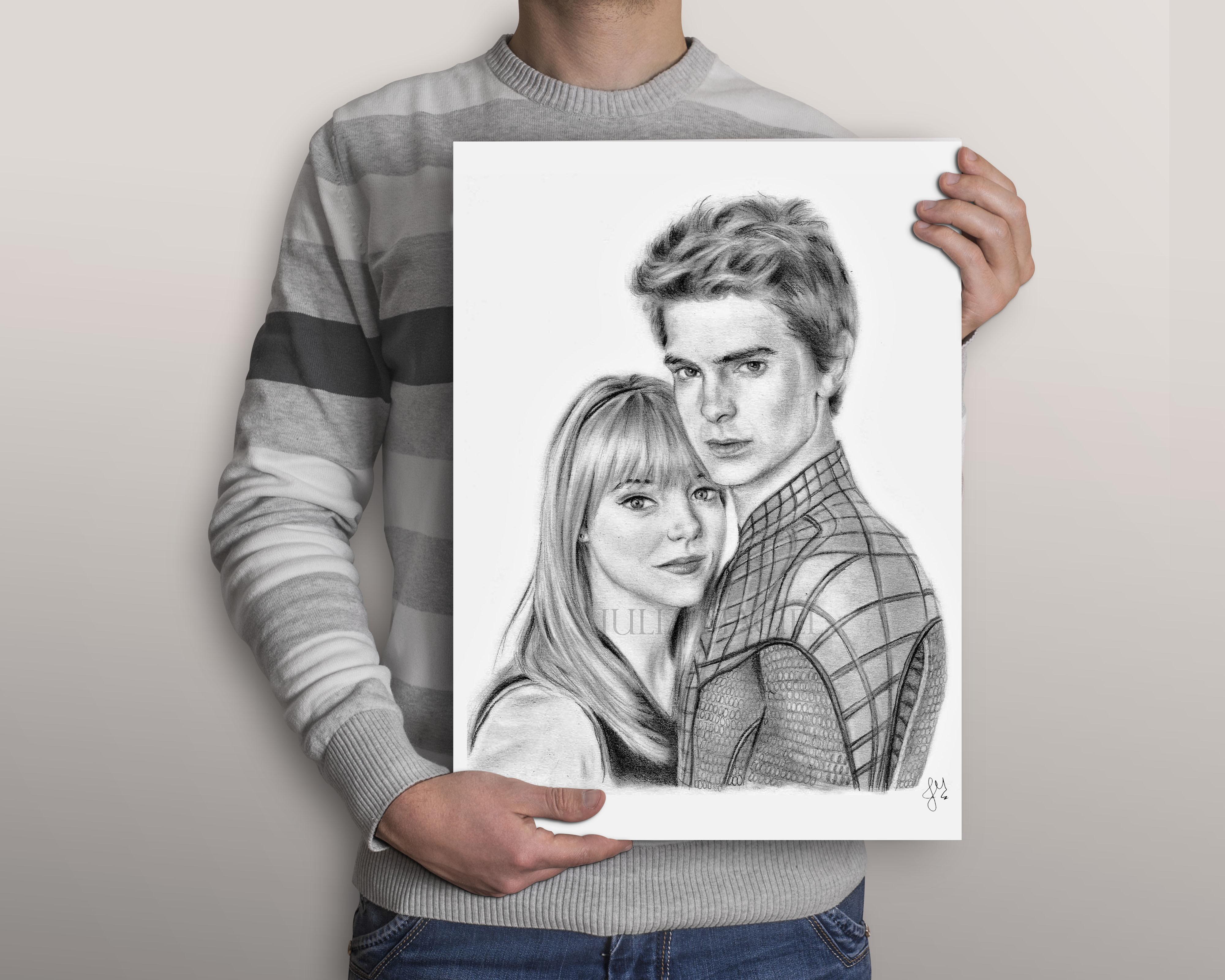 Desenho Casal Retrato Duplo Personalizado No Elo7 Desenhos