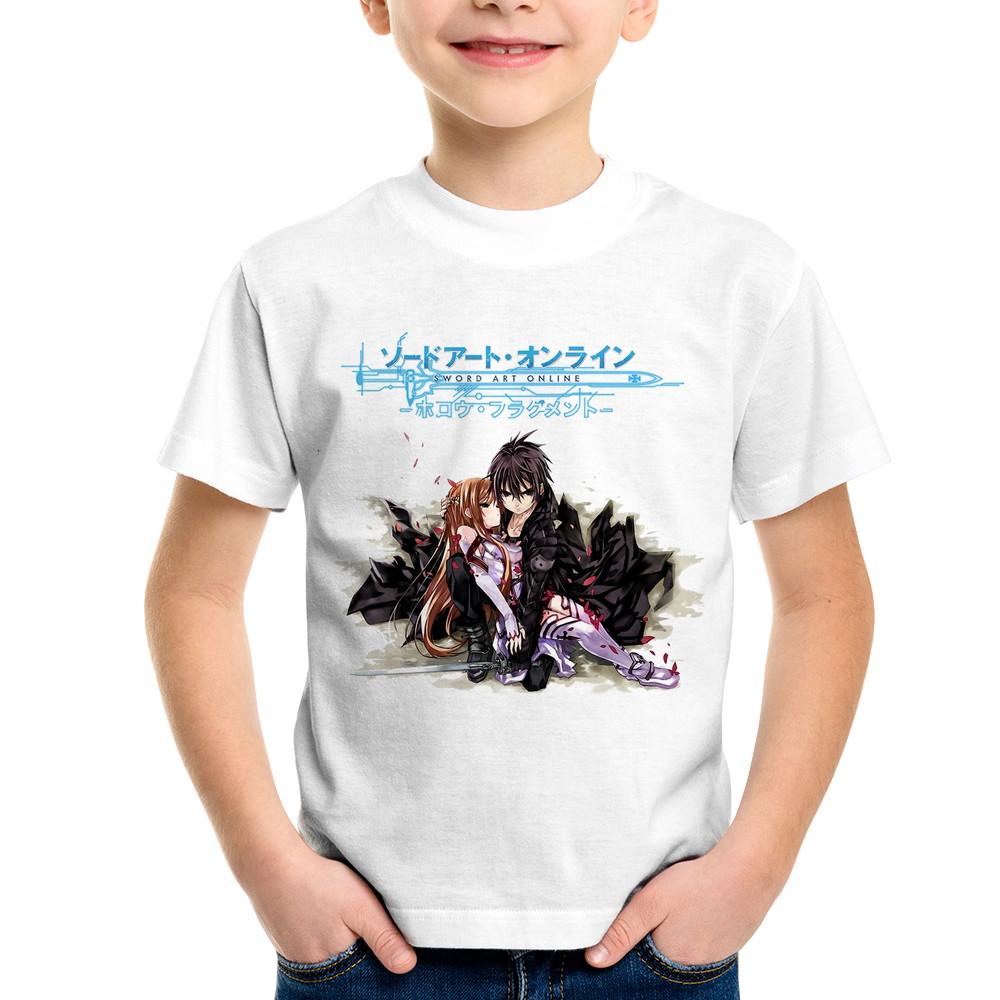 abf189c6b Camiseta Infantil Sword Art Online Asuna Yuuki e Kirito no Elo7 ...