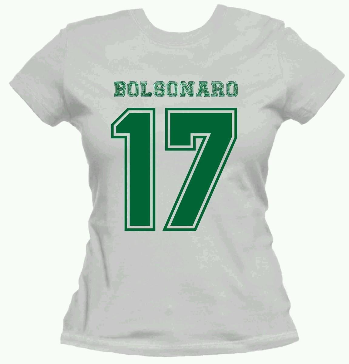 Camiseta Bolsonaro Presidente Raglan Feminina  0bab1bda570