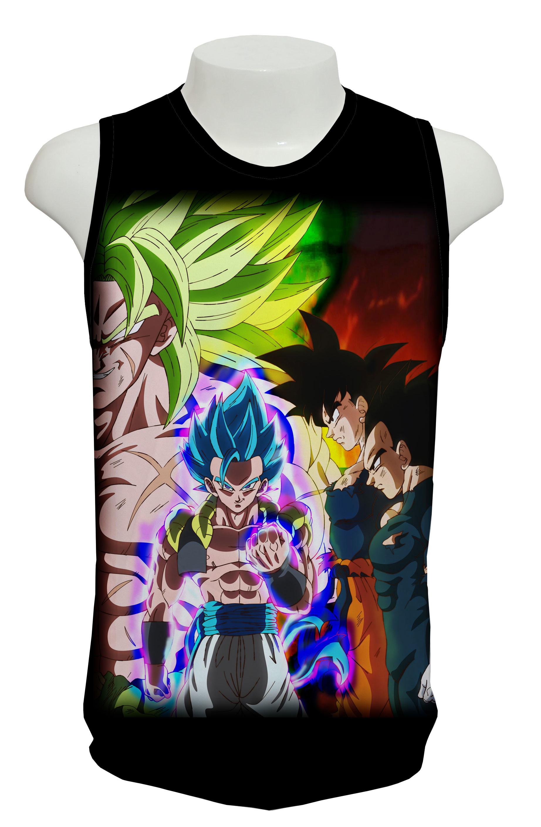 e314645bc251a Camiseta Regata Treino Goku