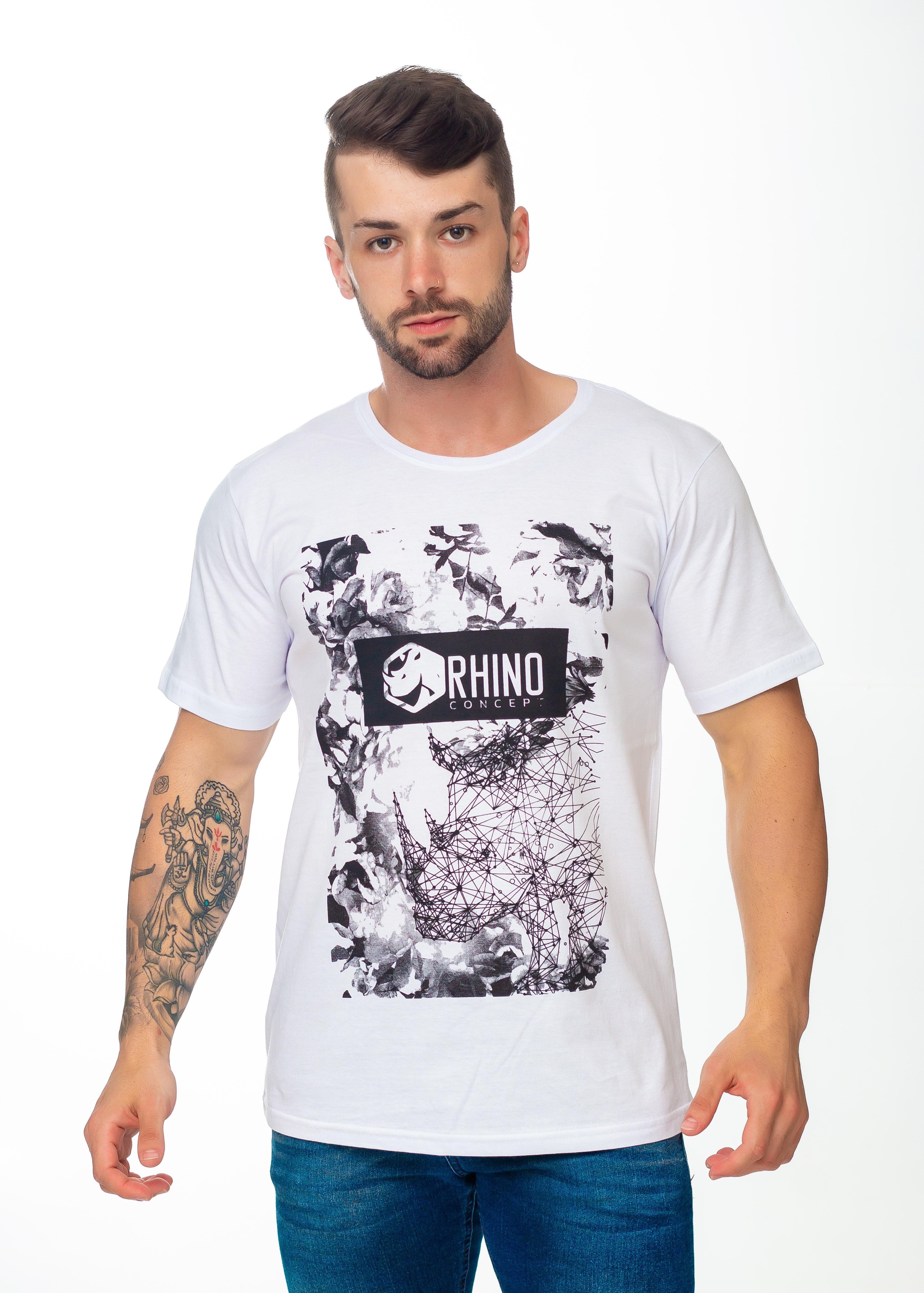 Camiseta Cofccionada em Algodão Penteada  7f69f6d4b72