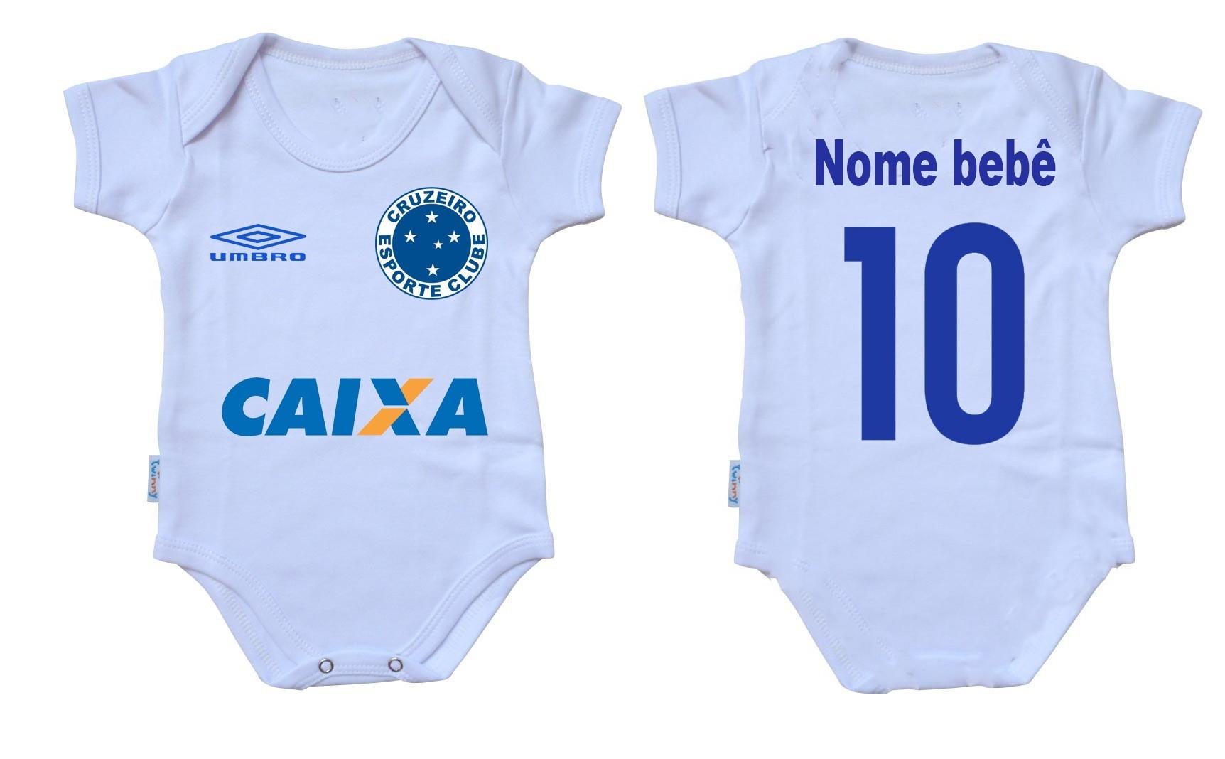 Body Bebe Time Cruzeiro Simbolo  eadb0f59f61