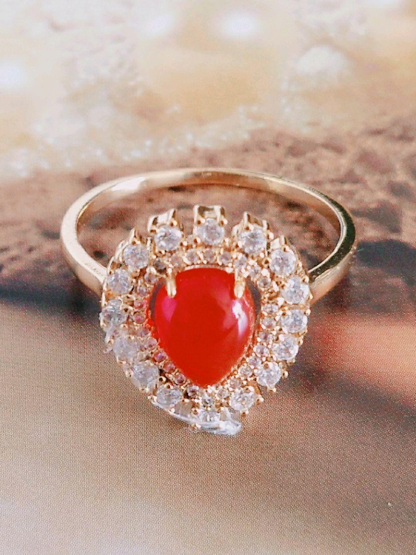 Anel com Pedra Vermelha   Elo7 f375411935
