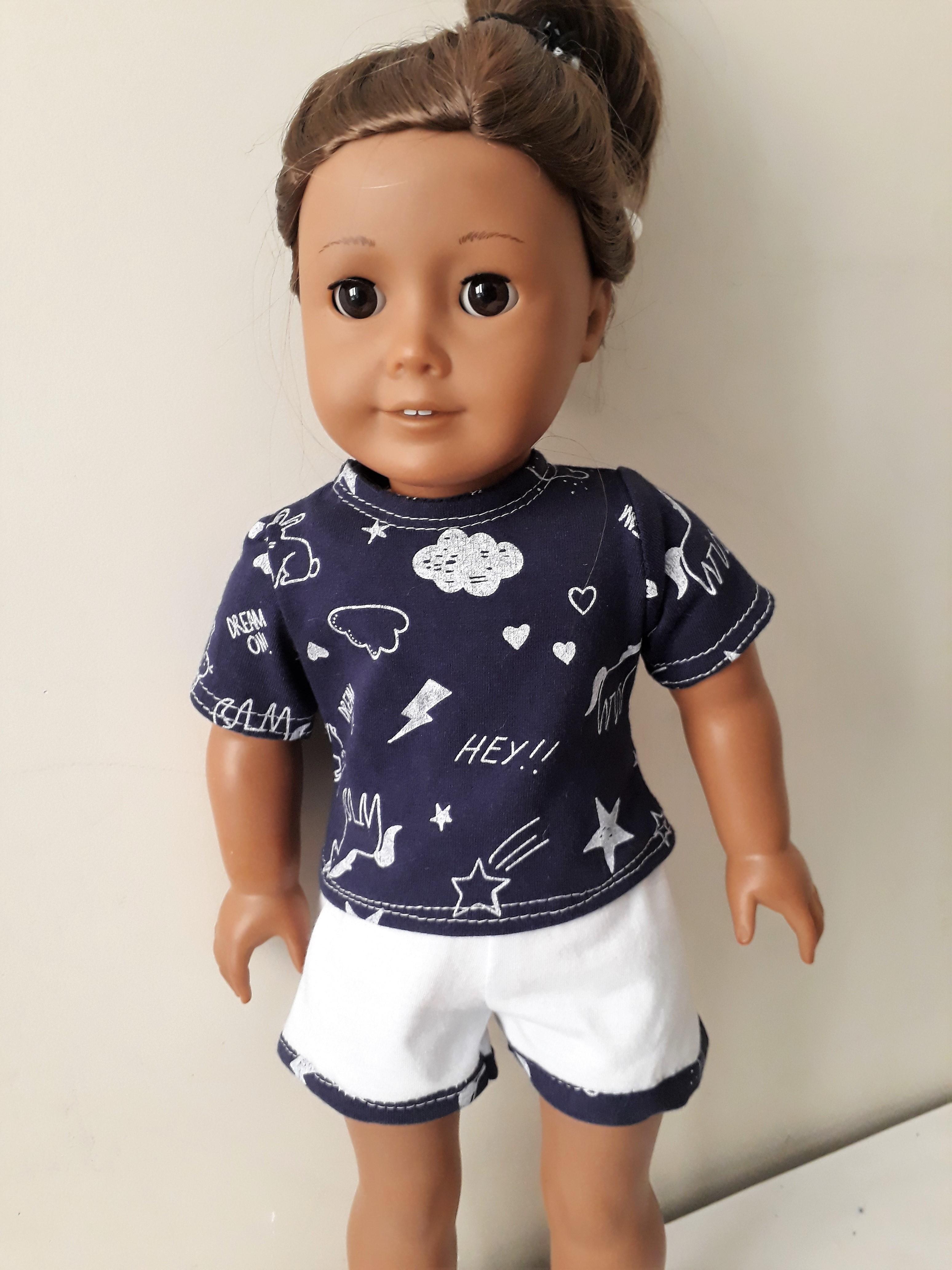 e863c79113c64e Pijama Curto Nuvem Azul | Elo7