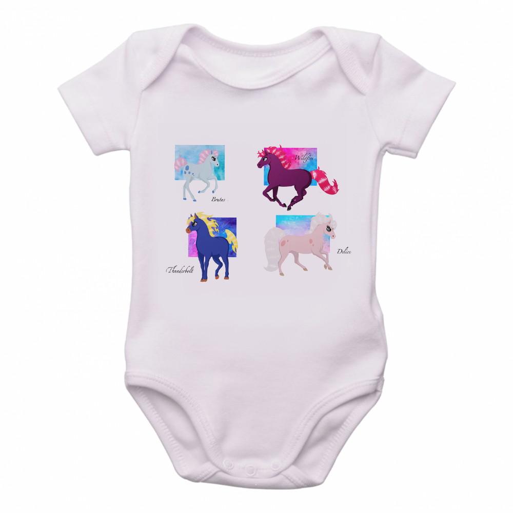 9a4ff74717 Body bebê roupa nenê cavalos cavalo de fogo princesa sarah no Elo7 ...