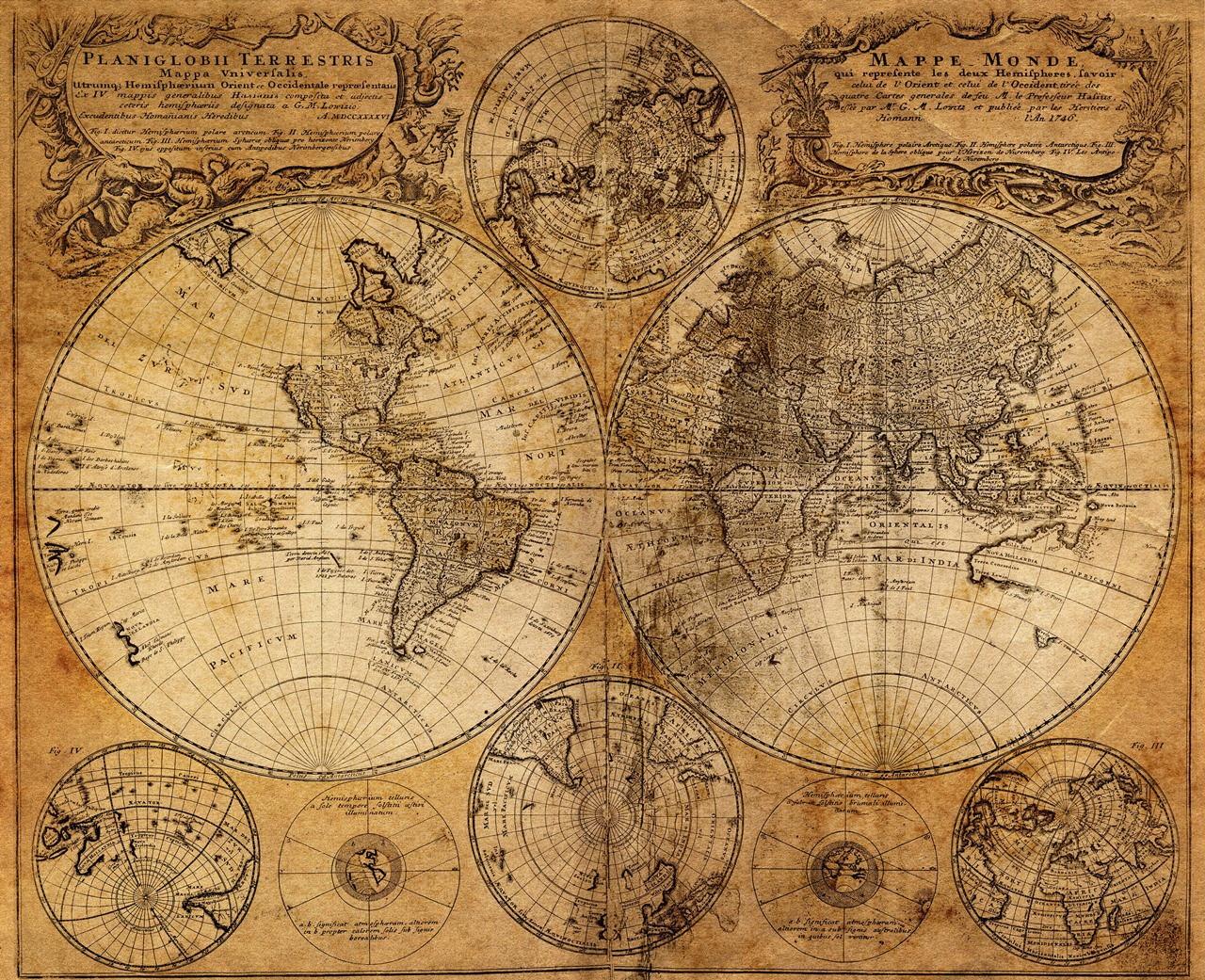 Quadro Poster Mapa Mundi Retro Iv No Elo7 Encantos Para Casa