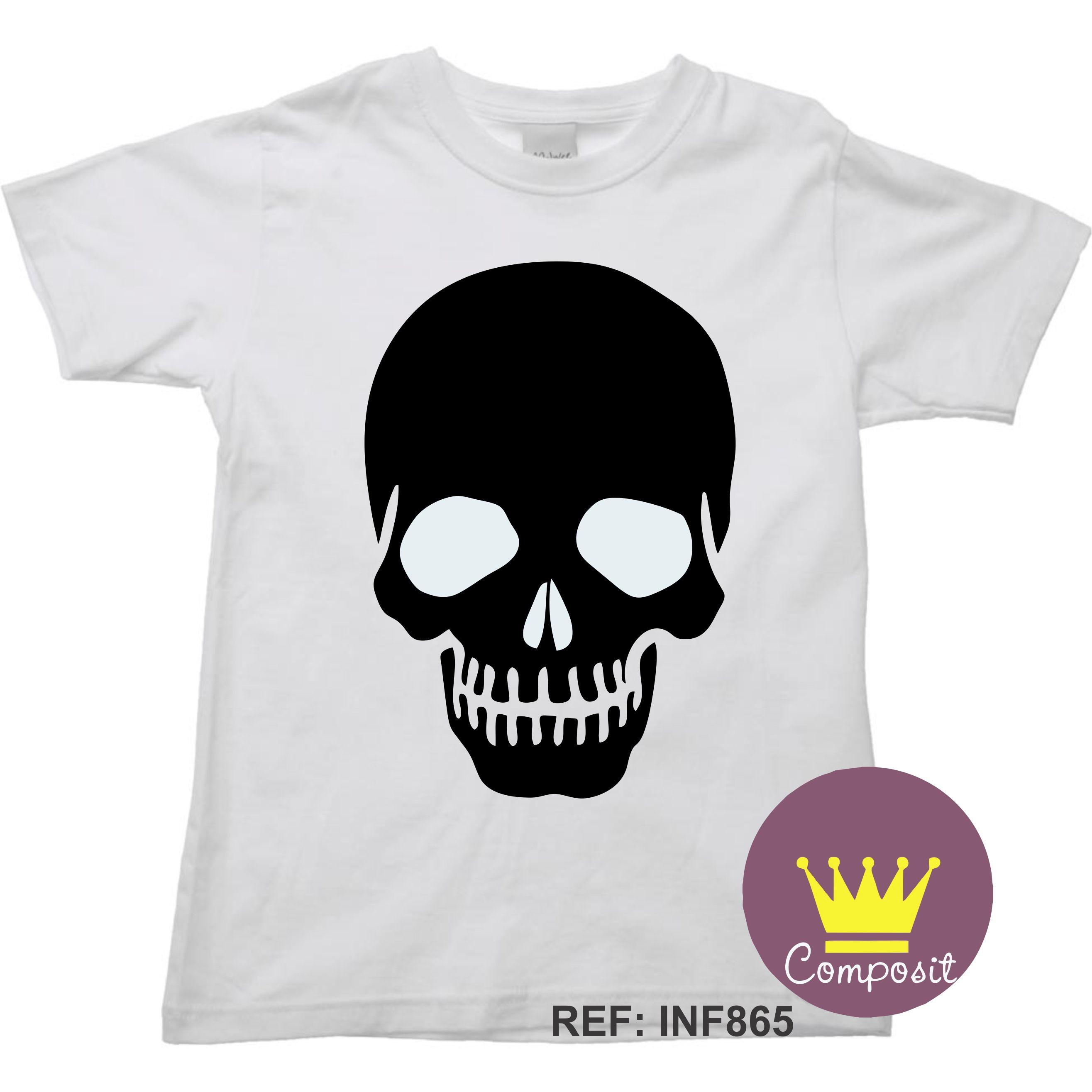 08b060a5a Camiseta Caveira Americana Raglan no Elo7