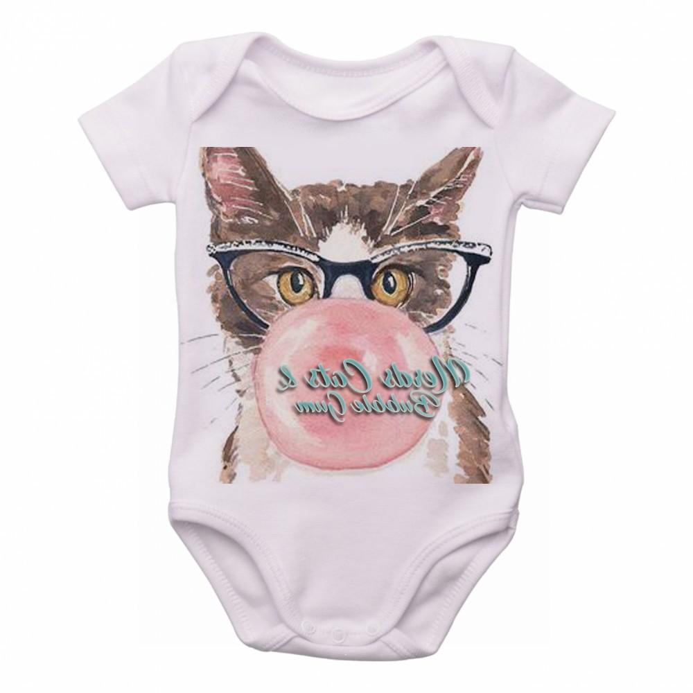 343d68635 Body bebê roupa nenê Gatos nerds chicletes cats bubble gum no Elo7 |  Camisetas Empório Dutra (E25F71)
