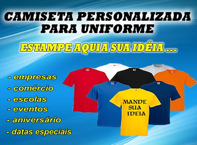 Camiseta Personalizada para Uniforme  1704f831573