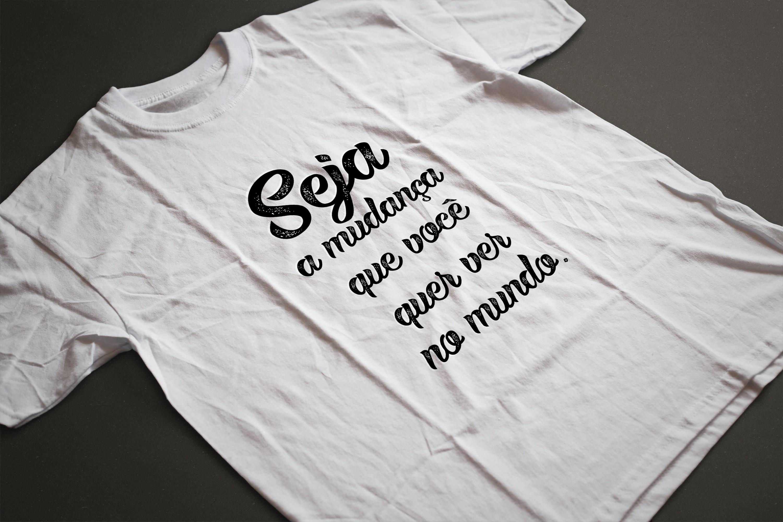 6d2bf2dc2b59 Camiseta Motivacional Seja a Mudança Que Você Quer Ver no Elo7   TS Custom  (E2D674)