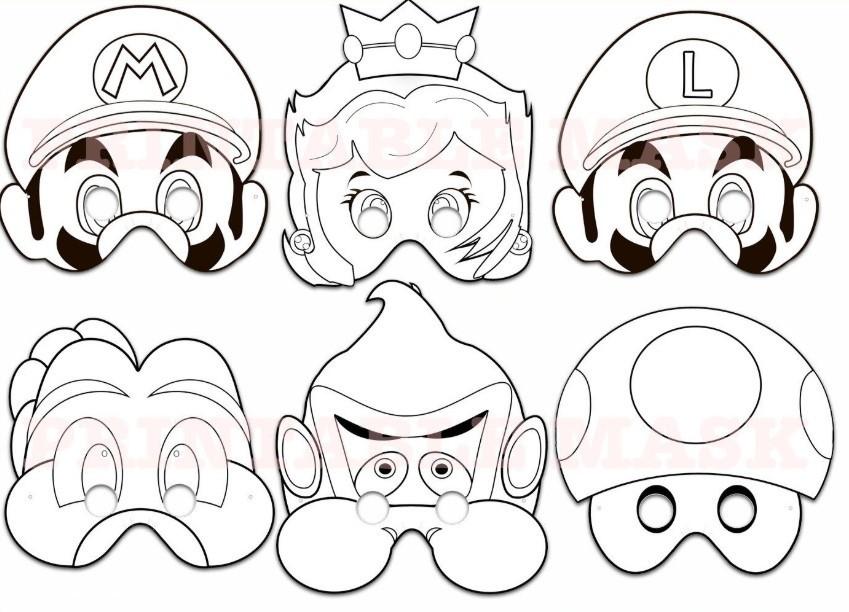 Mascaras De Colorir Super Mario Bros No Elo7 Hb Lembrancinhas