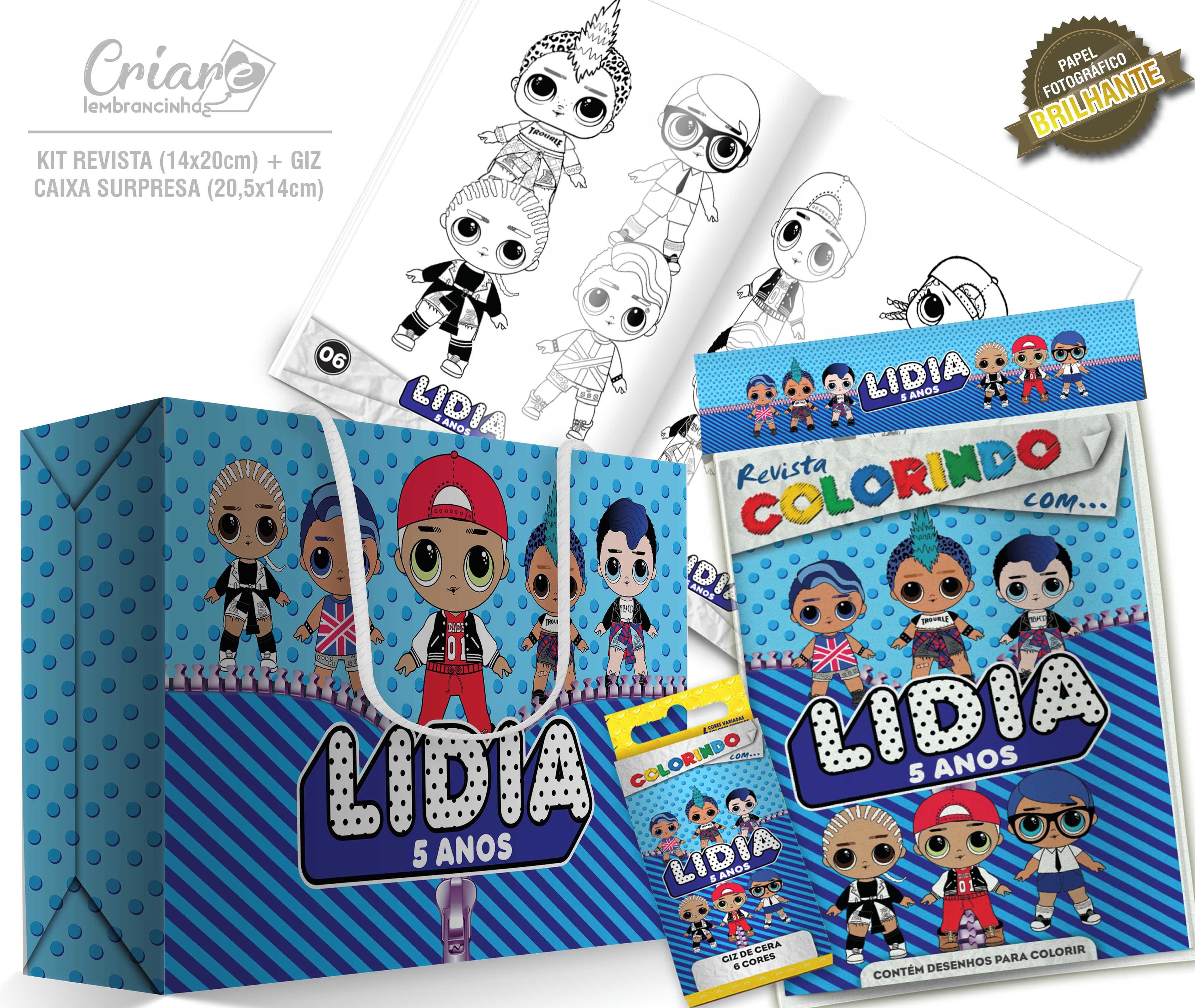 Caixa Surpresa Kit De Colorir Lol Surprise Meninos No Elo7
