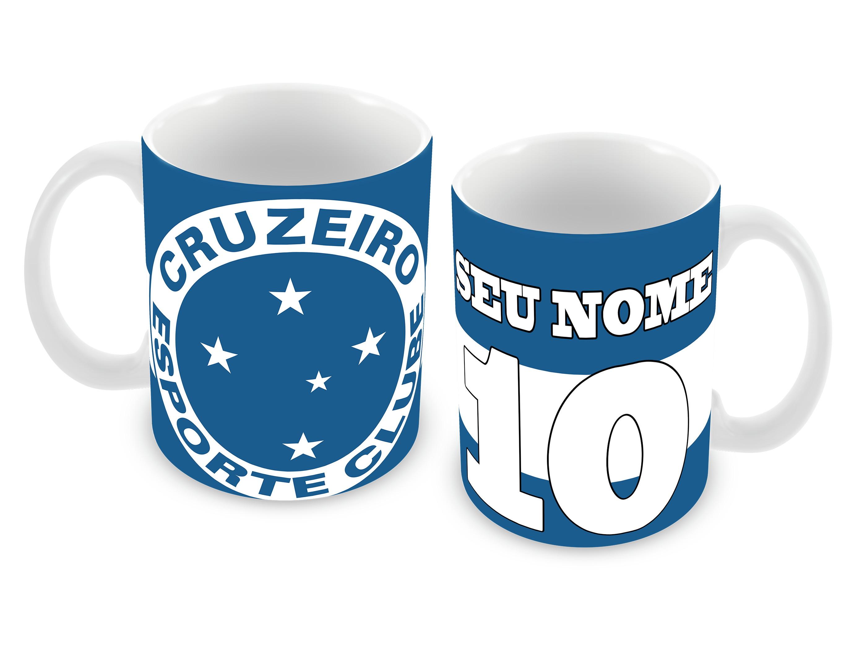 1fb689eb6681c Caneca Cruzeiro FC Personliazada no Elo7