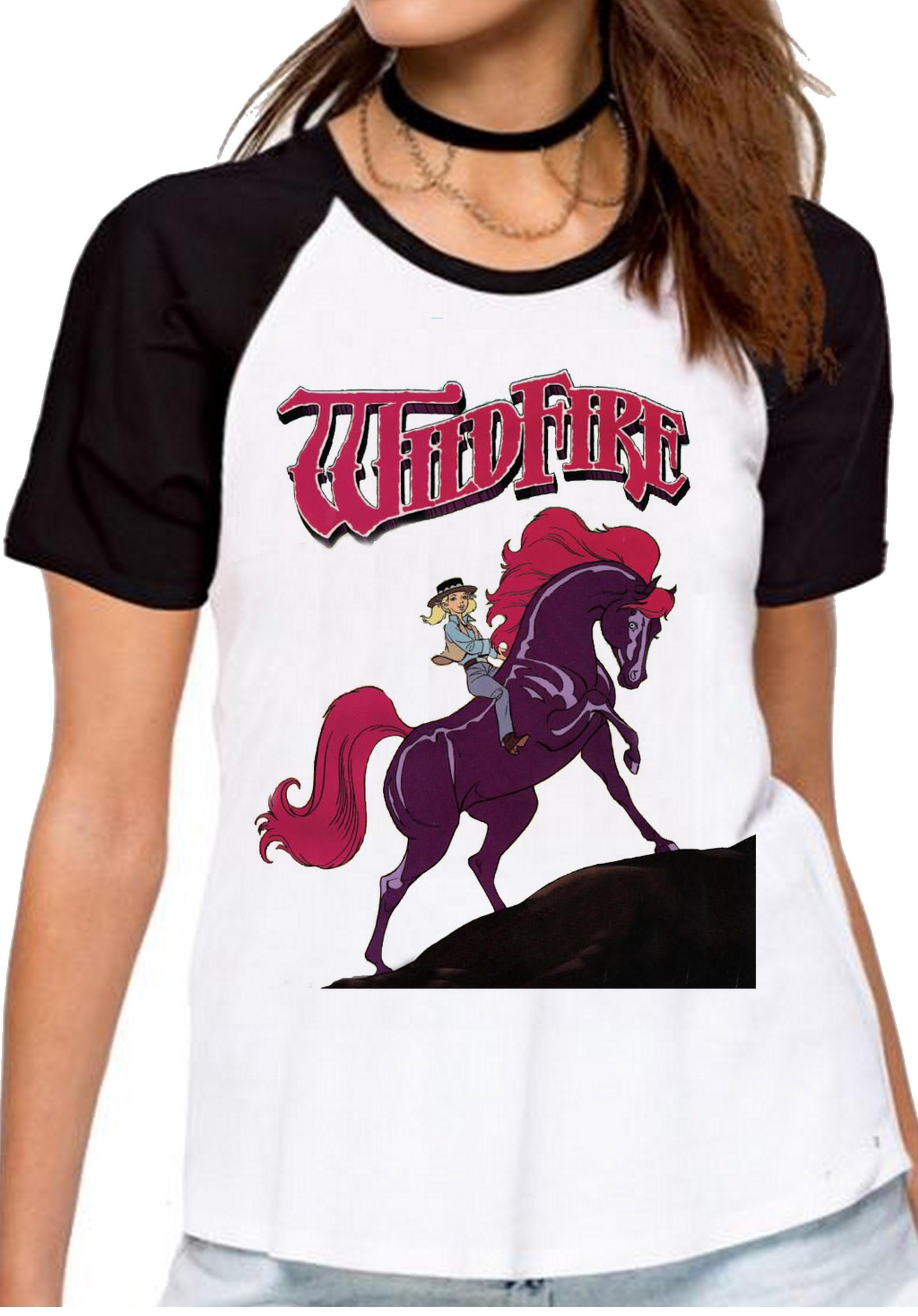 a63f2dfc80 blusa feminina baby look Cavalo de Fogo princesa sarah no Elo7 ...