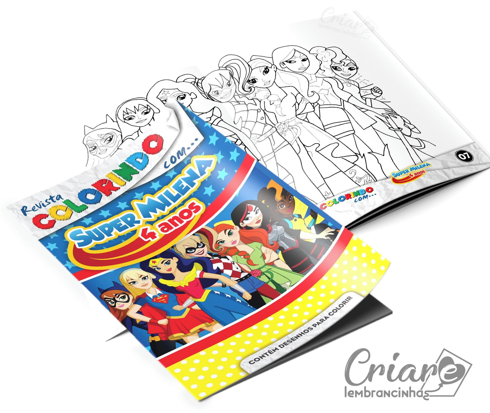 Revista Para Colorir Super Hero Girls No Elo7 Criare