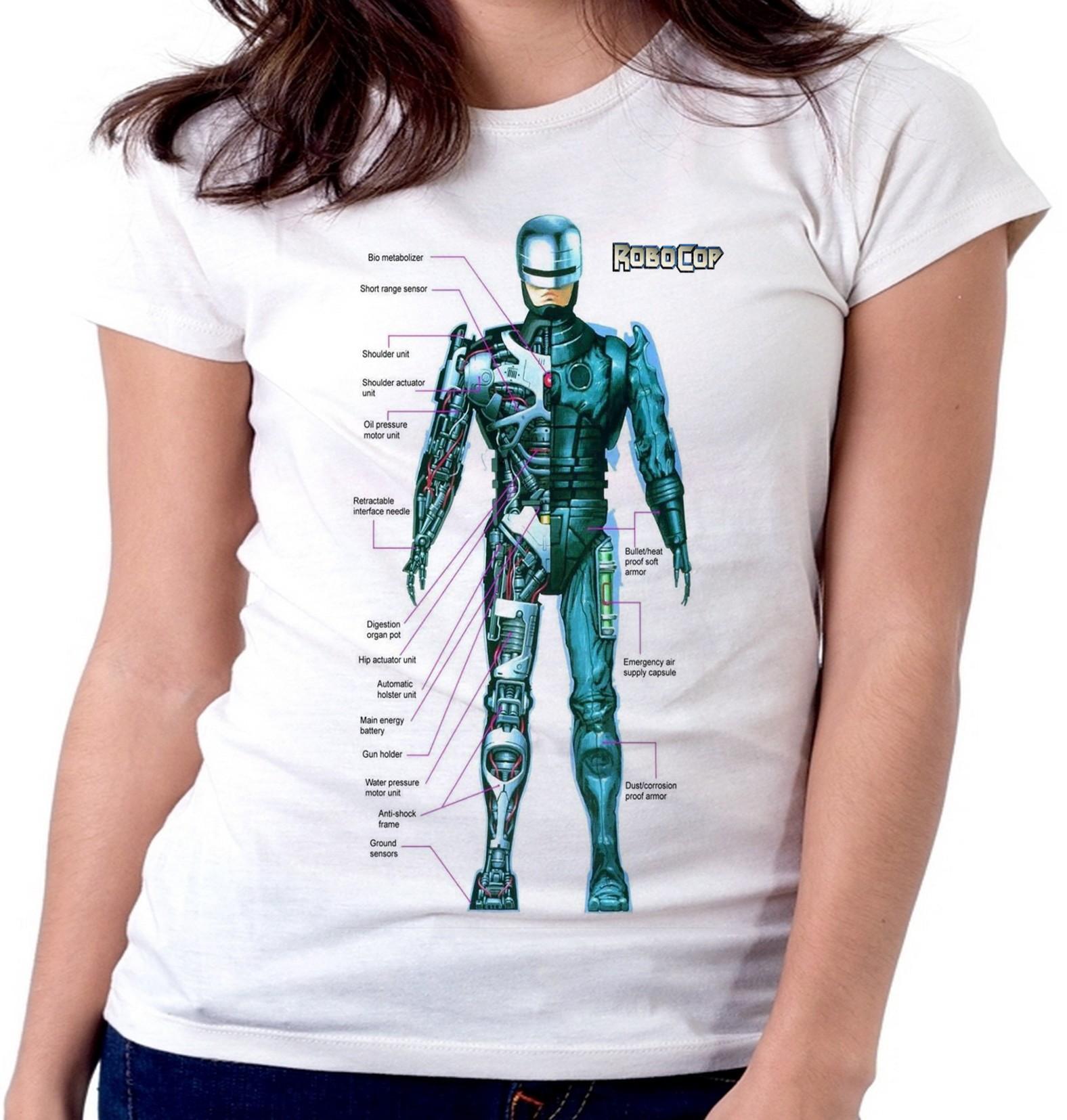 07e7d31bd2 blusa feminina baby look Robocop policia arma armadura no Elo7 ...