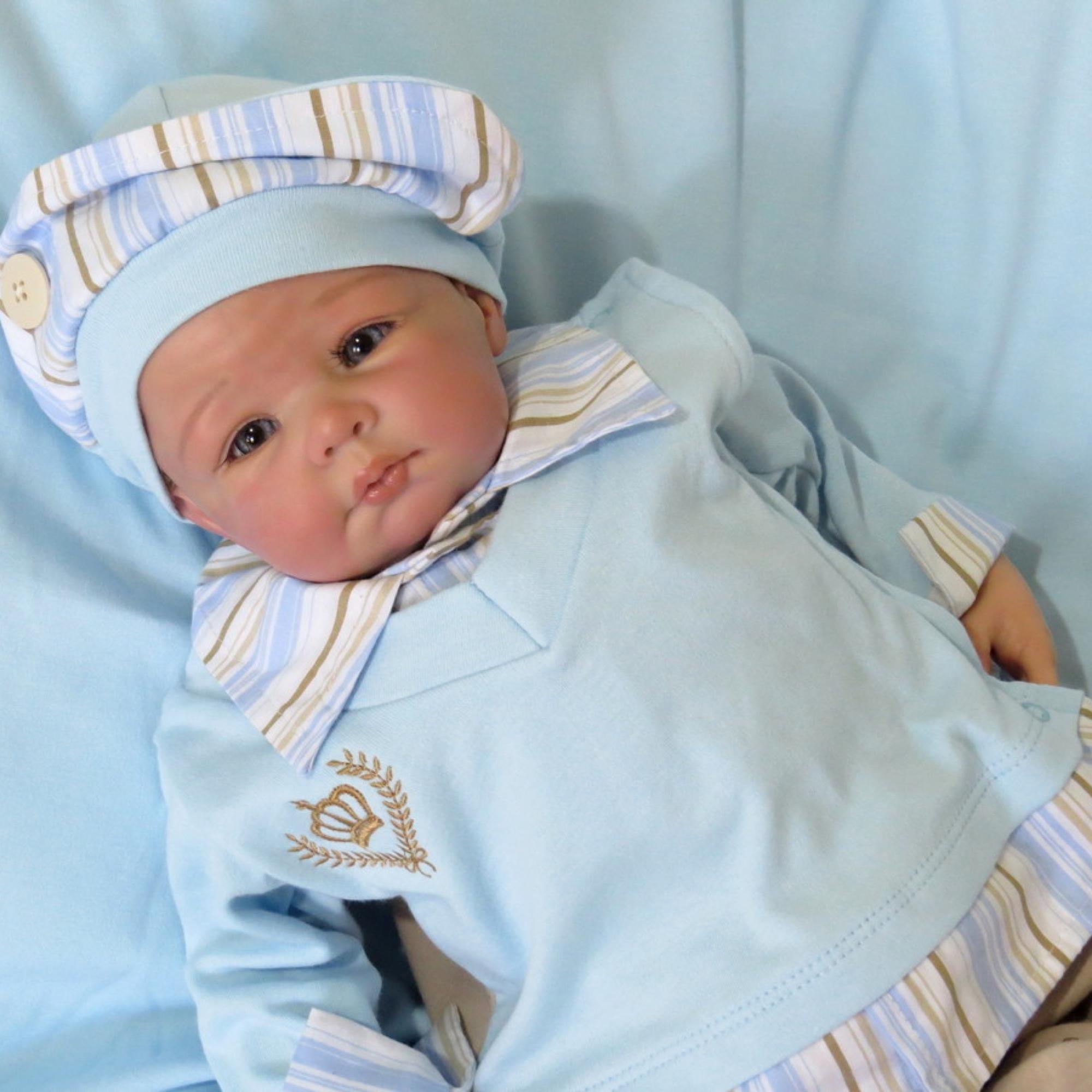 11c5c8e5da Saída Maternidade Príncipe Azul Com Manta no Elo7