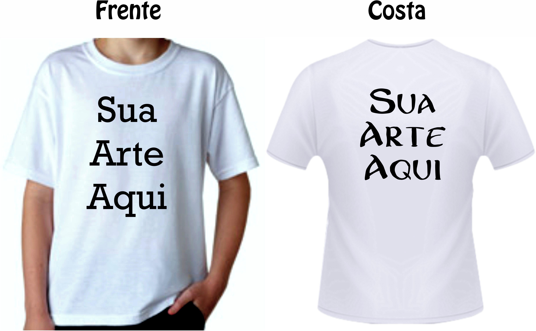 Camiseta Personalizada Infantil Coloque Sua Arte  f81482170bcc1