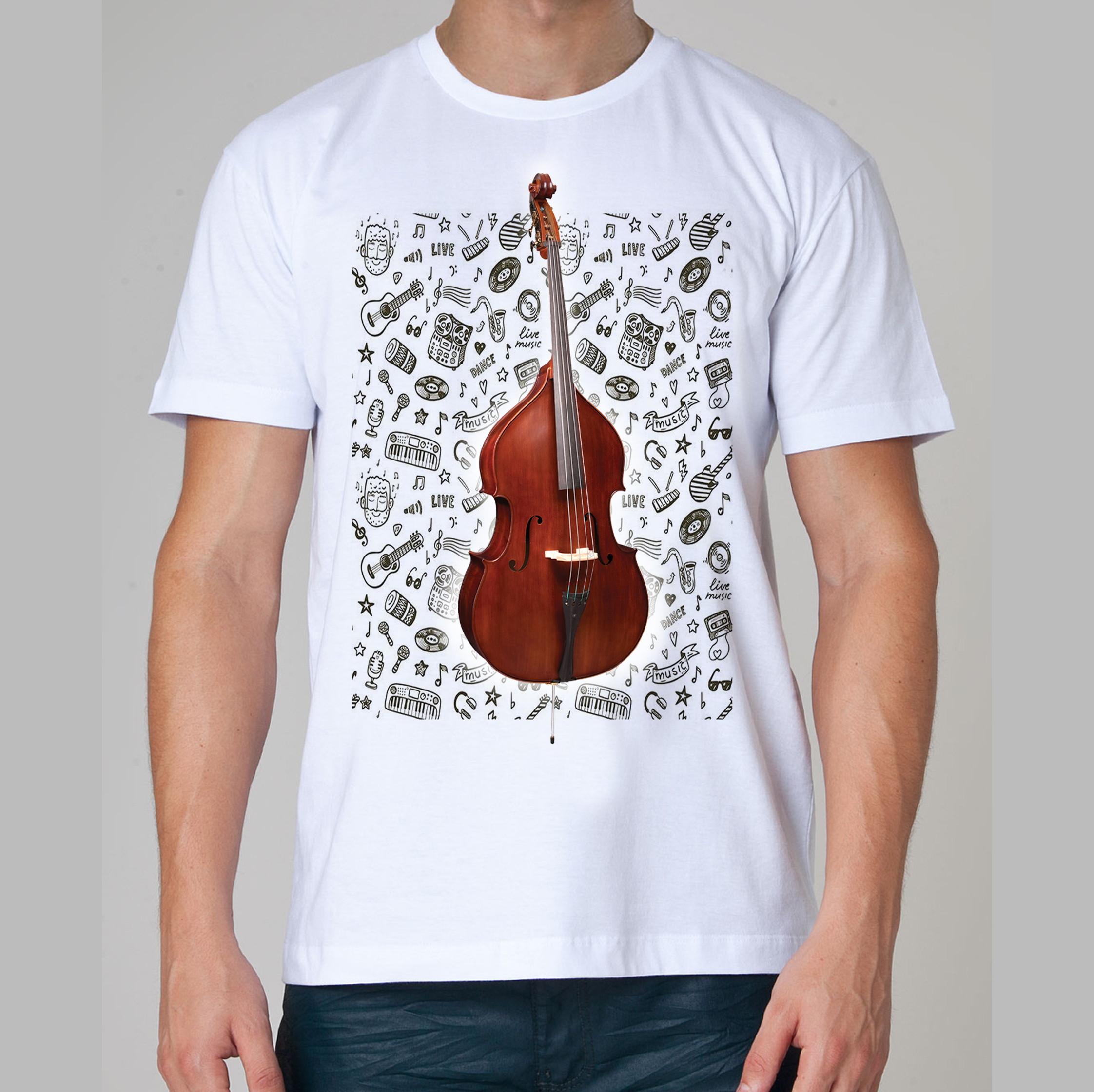 a4d7b7c102 Camiseta Rock Baixo Jazz