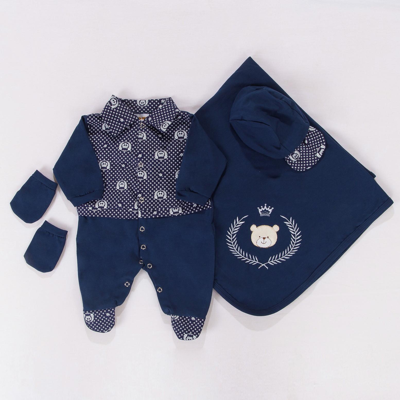 Saida de Maternidade Azul Marinho  a49867a8f61