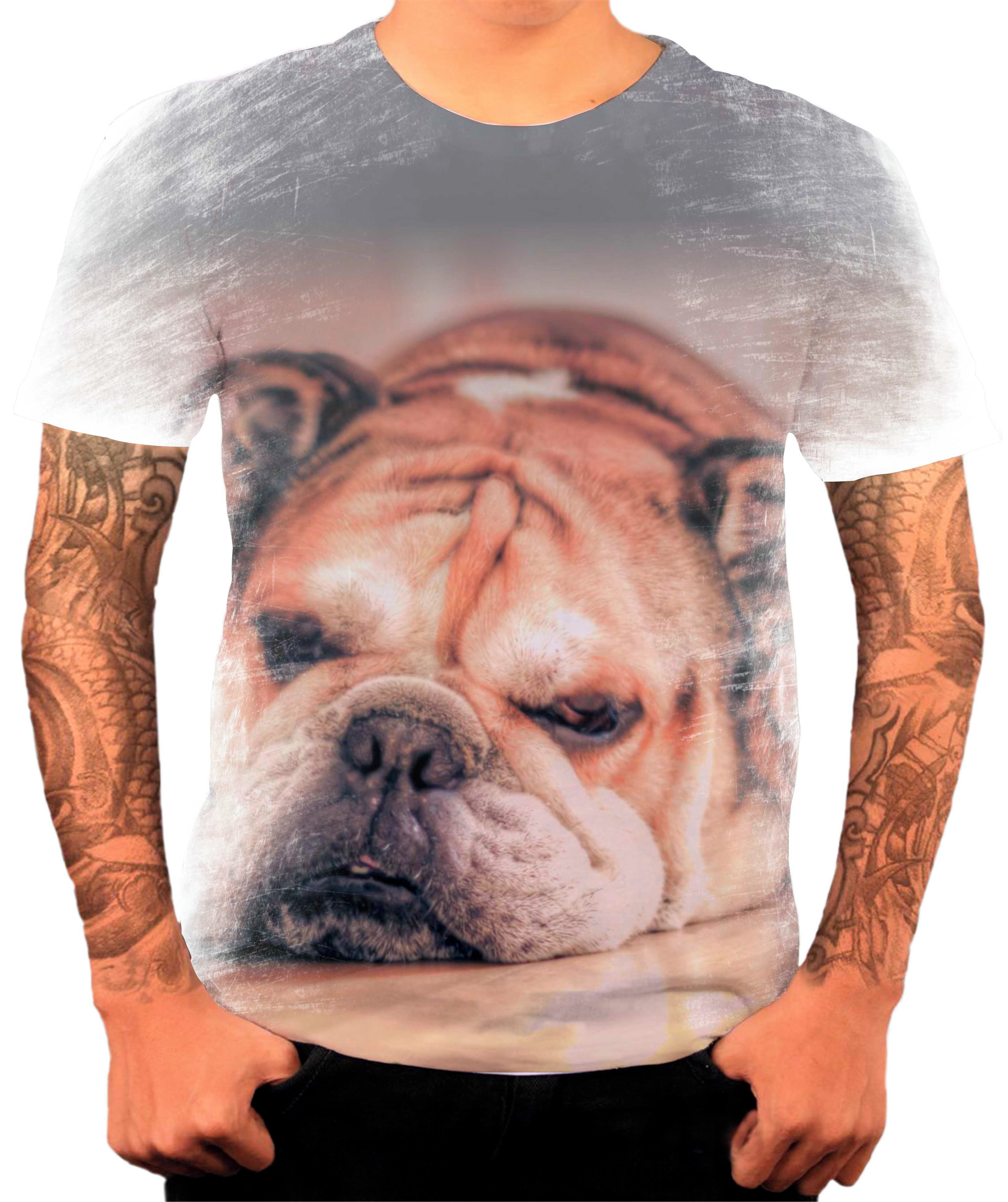 Camiseta Bulldog Frances Camuflado  75dc44e2c49aa