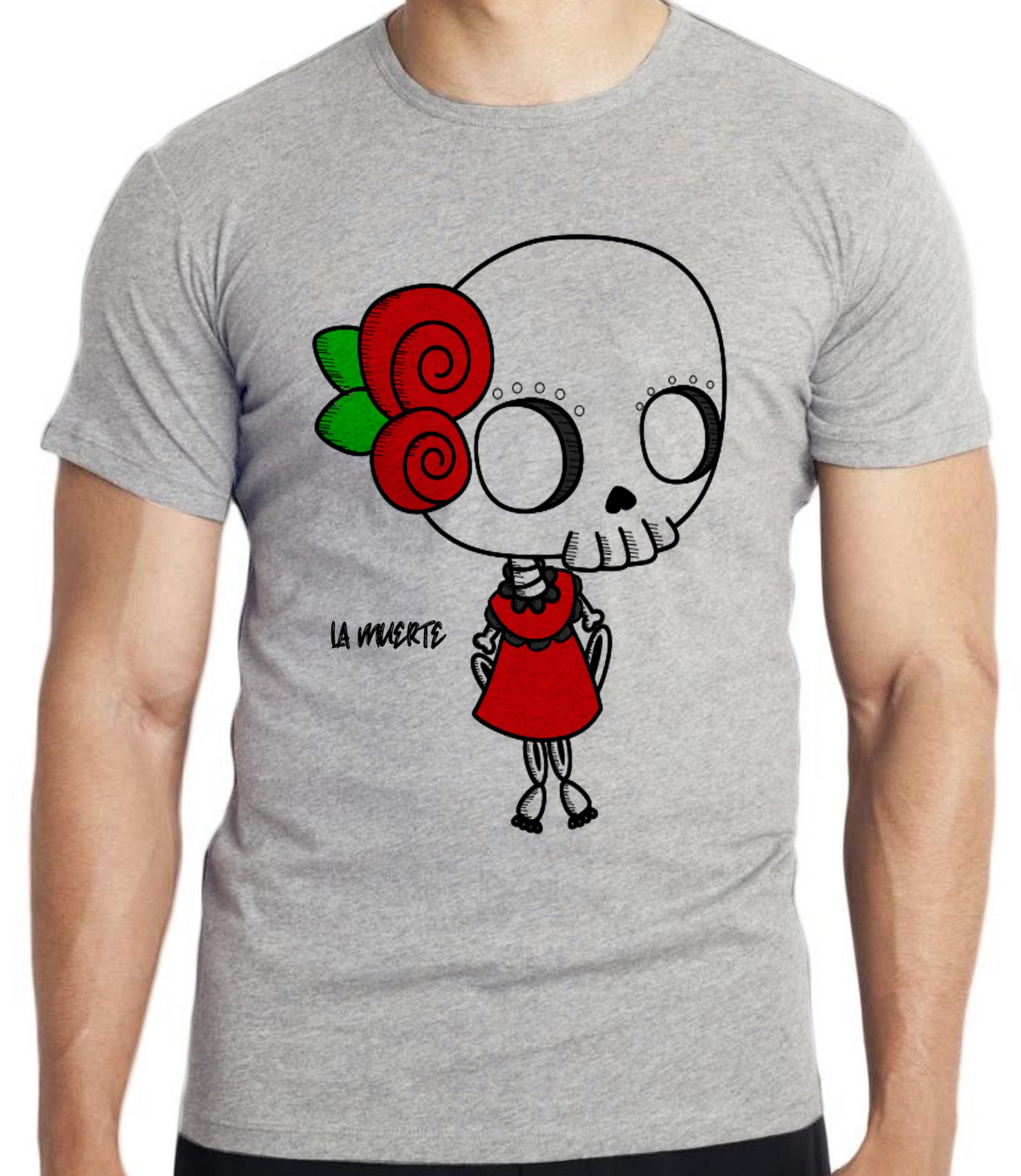 56fc59334faaf Camiseta Feminina Cinza Mescla Sombreiro Mexicano