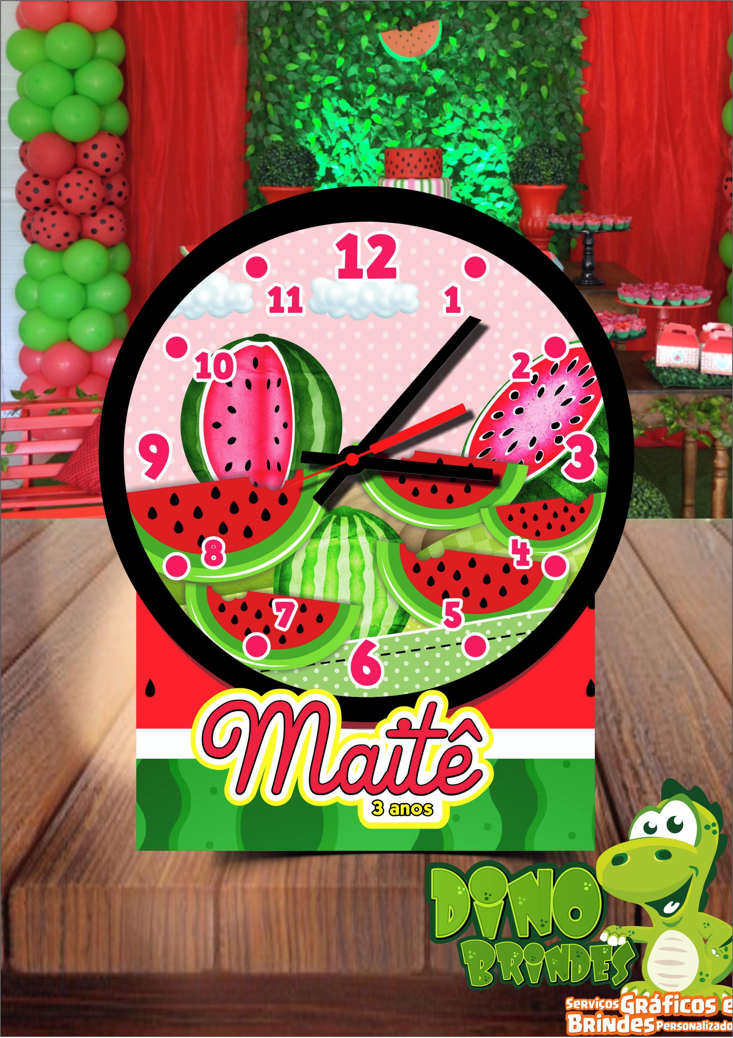 f9eff58ffa2 Relógios com Foto Infantil Festa