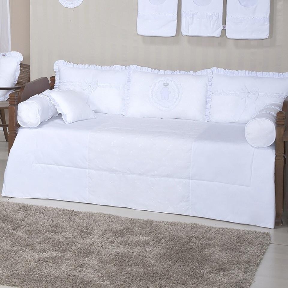 9a44a25587 kit cama babá branca ursinho 8 pcs no Elo7